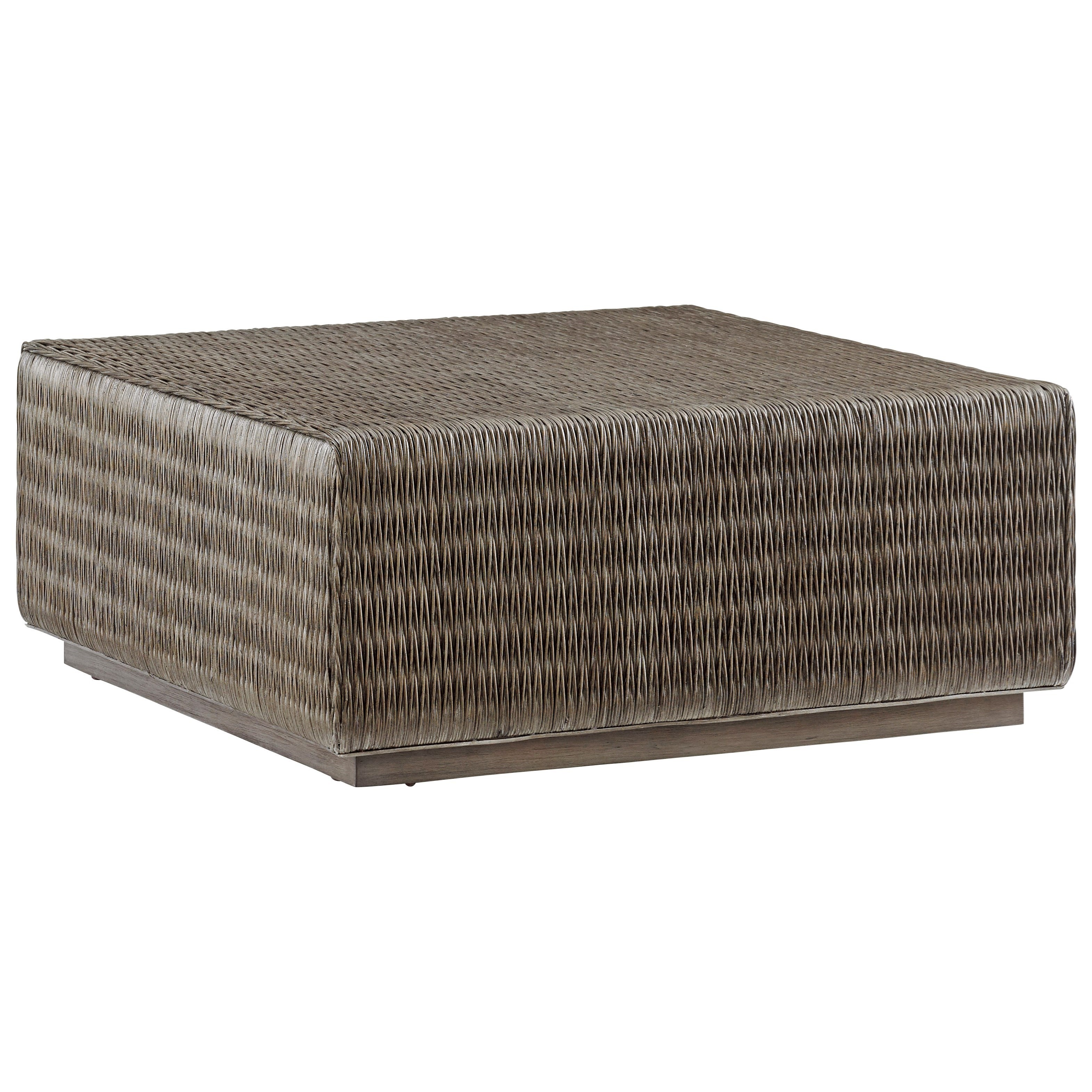 Tommy Bahama Home Cypress Point 562 947 Seawatch Woven Rattan Cocktail Table Baer 39 S Furniture