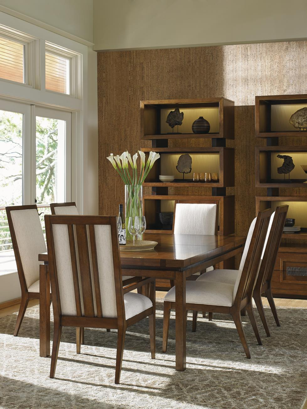 Tommy bahama home island fusion seven piece dining set for Breakfast island set