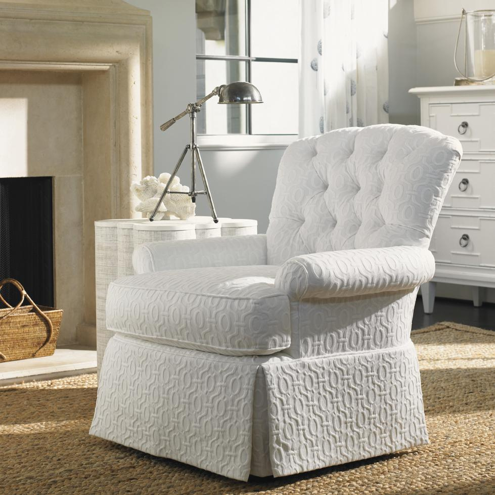 Tommy Bahama Home Ivory Key Long Bay Chair With Tufted