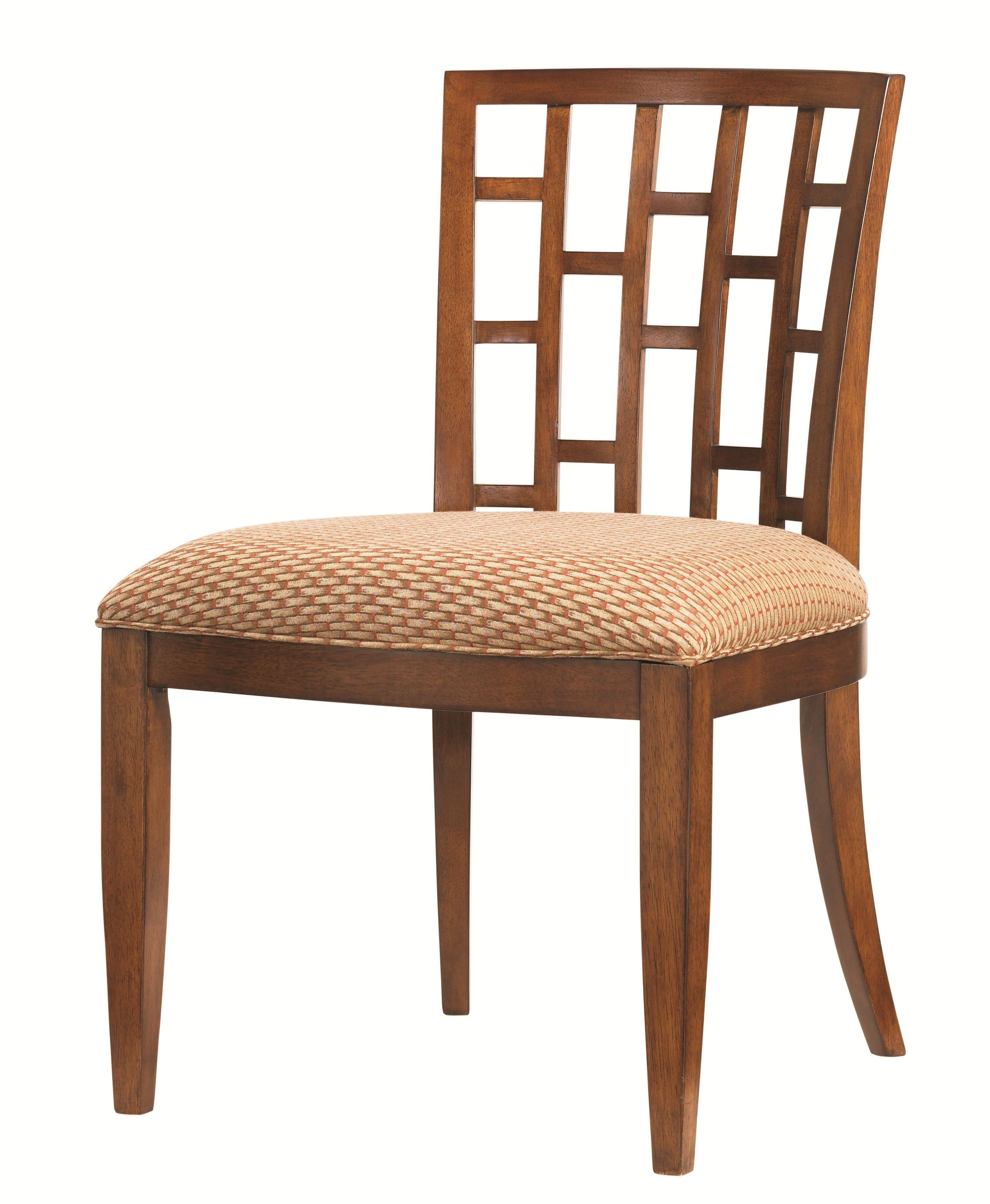 Tommy Bahama Home Ocean Club Quick Ship Lanai Side Chair with Geometric Pattern - Baeru0026#39;s ...