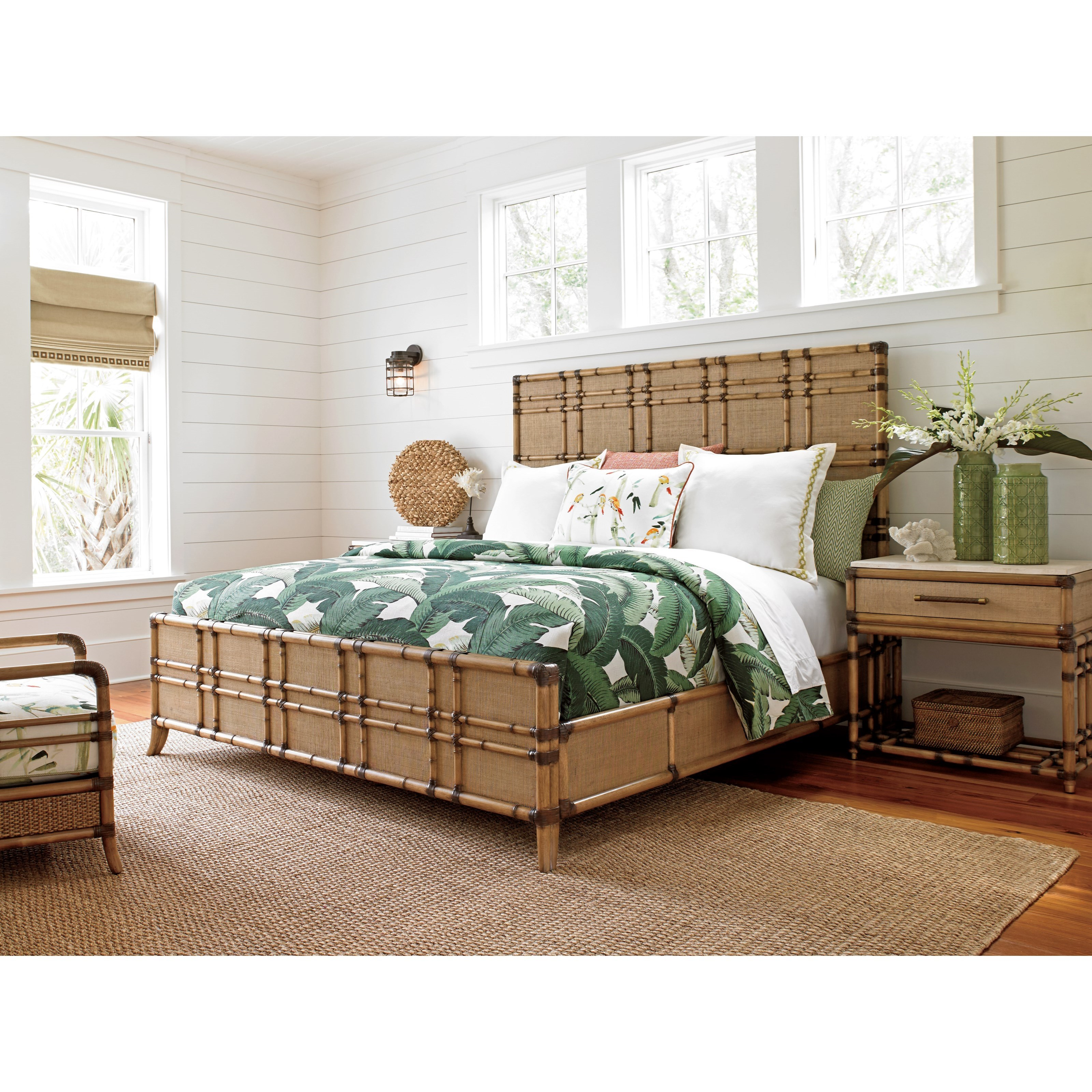 Tommy Bahama Home Twin Palms Queen Bedroom Group Baer 39 S Furniture Bedroom Groups