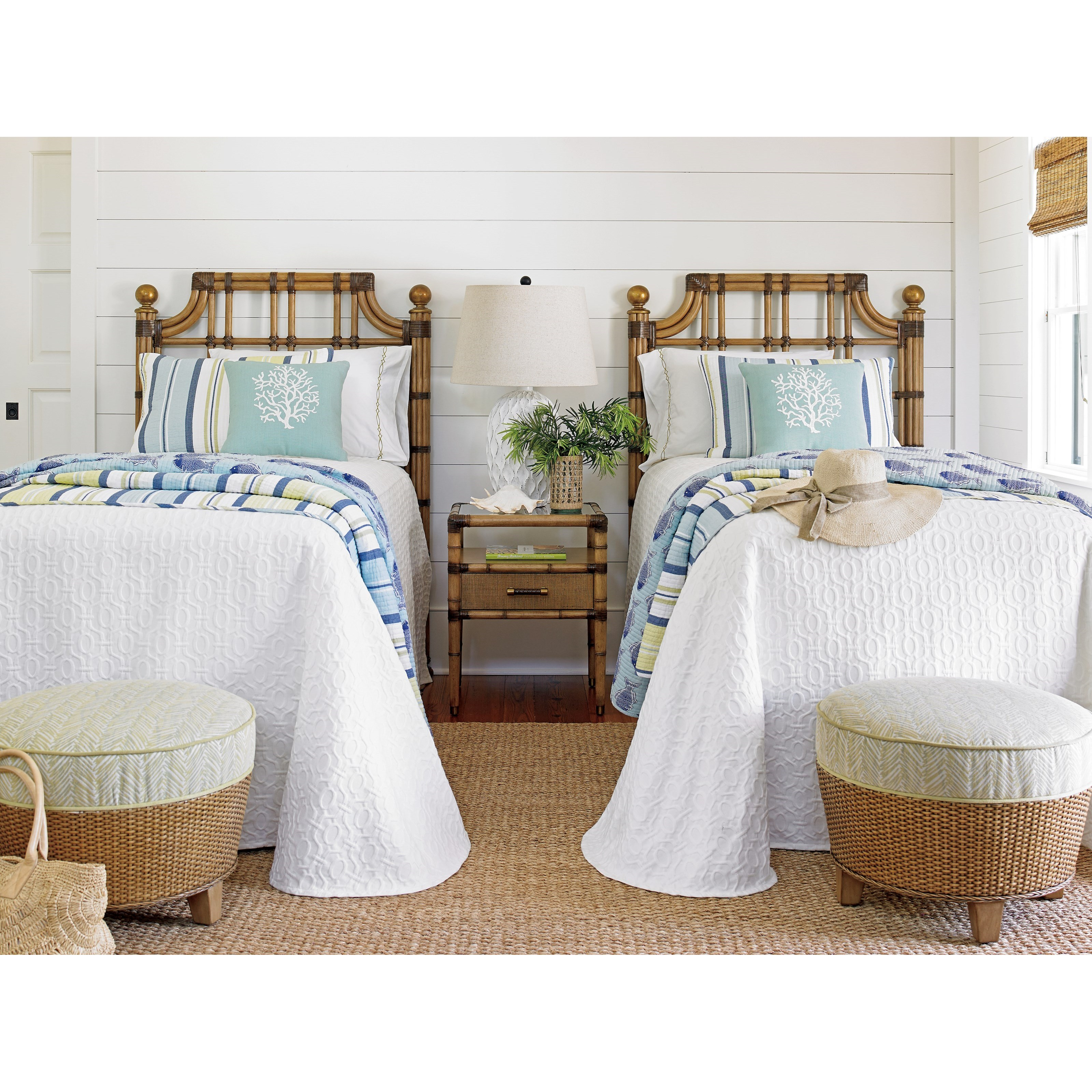 Tommy bahama home twin palms twin guest bedroom group for Bedroom groups