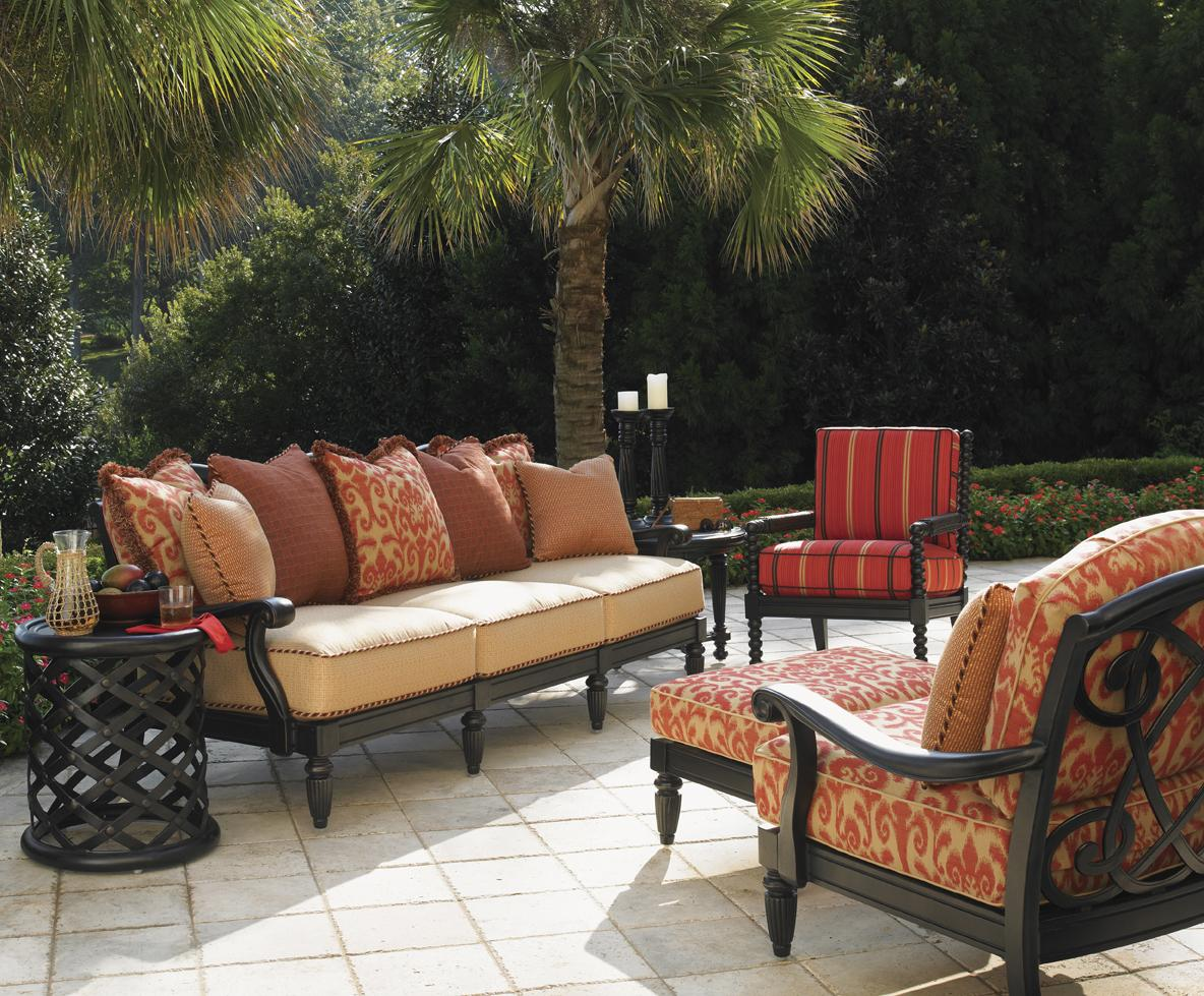 Tommy Bahama Outdoor Living Kingstown Sedona 6 Piece Patio Set with Accent Ta