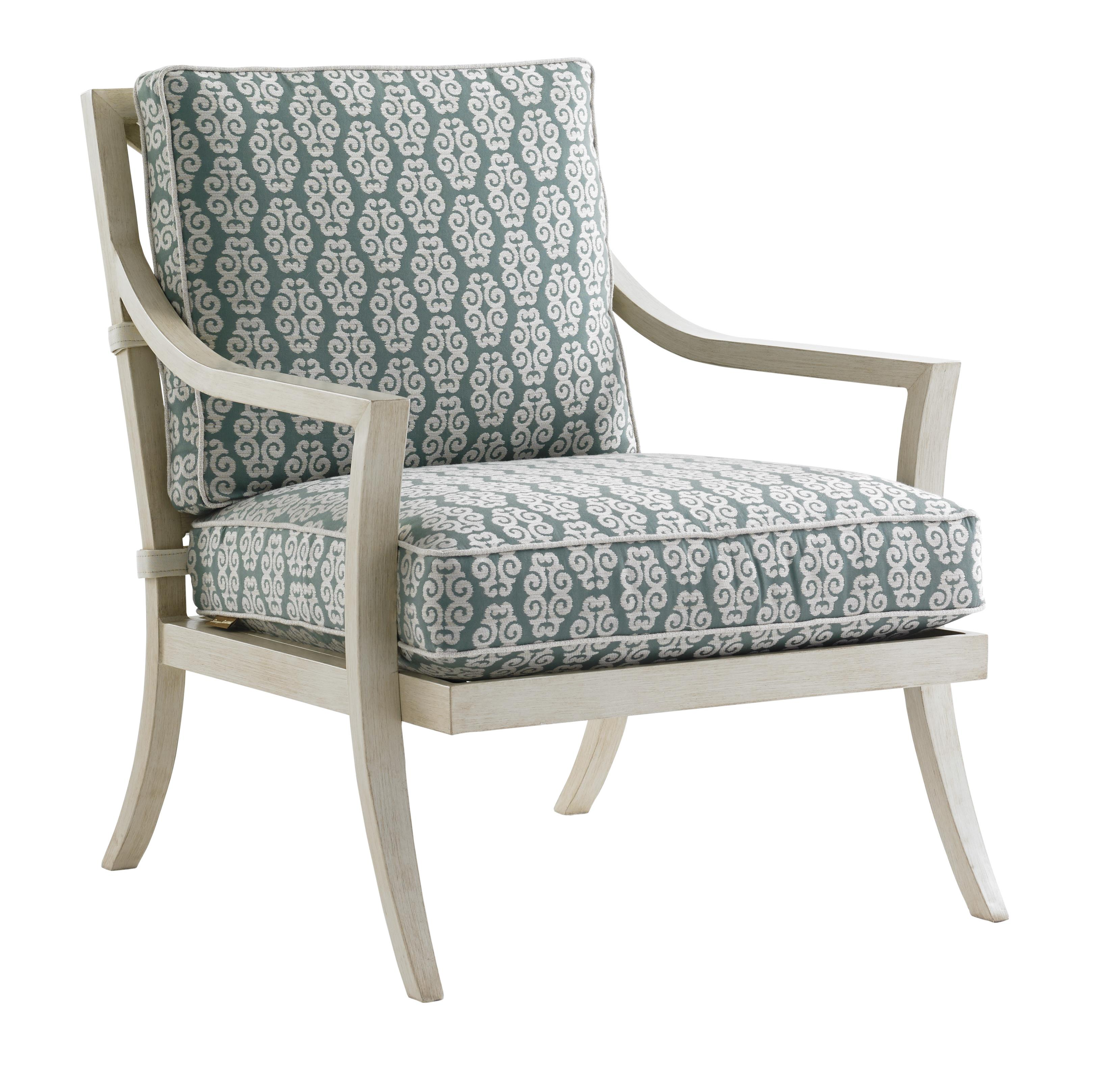 Tommy bahama outdoor living misty garden outdoor lounge for Fabric for outdoor chairs