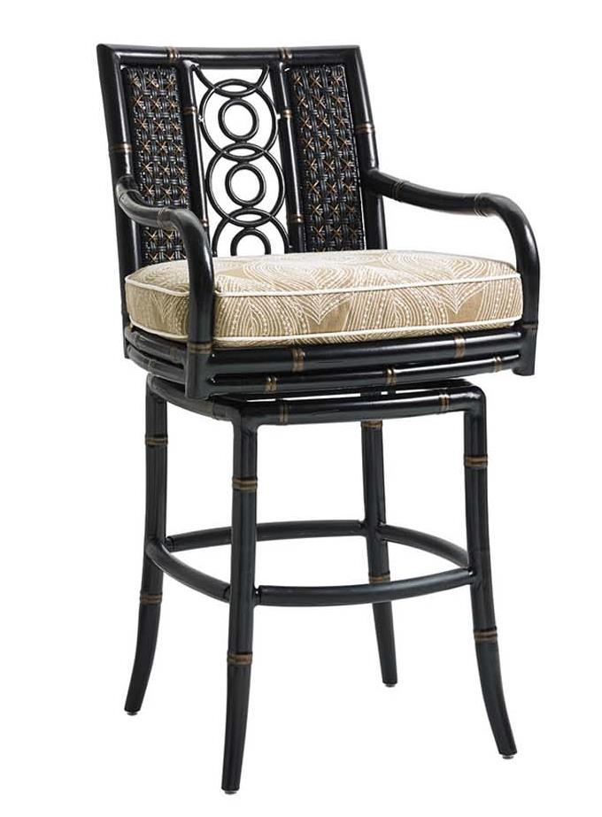Tommy Bahama Outdoor Living Marimba Outdoor Swivel Bar Stool Jacksonville Furniture Mart