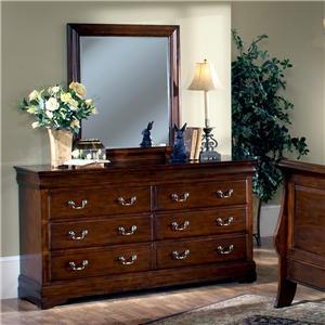 Trademaster Louis Phillipe Six Drawer Dresser And Dresser Mirror Bigfurniturewebsite Dresser