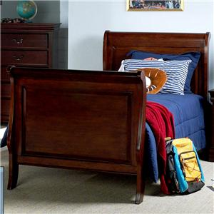 Trademaster Louis Phillipe 3 3 Twin Youth Sleigh Bed Bigfurniturewebsite Sleigh Beds