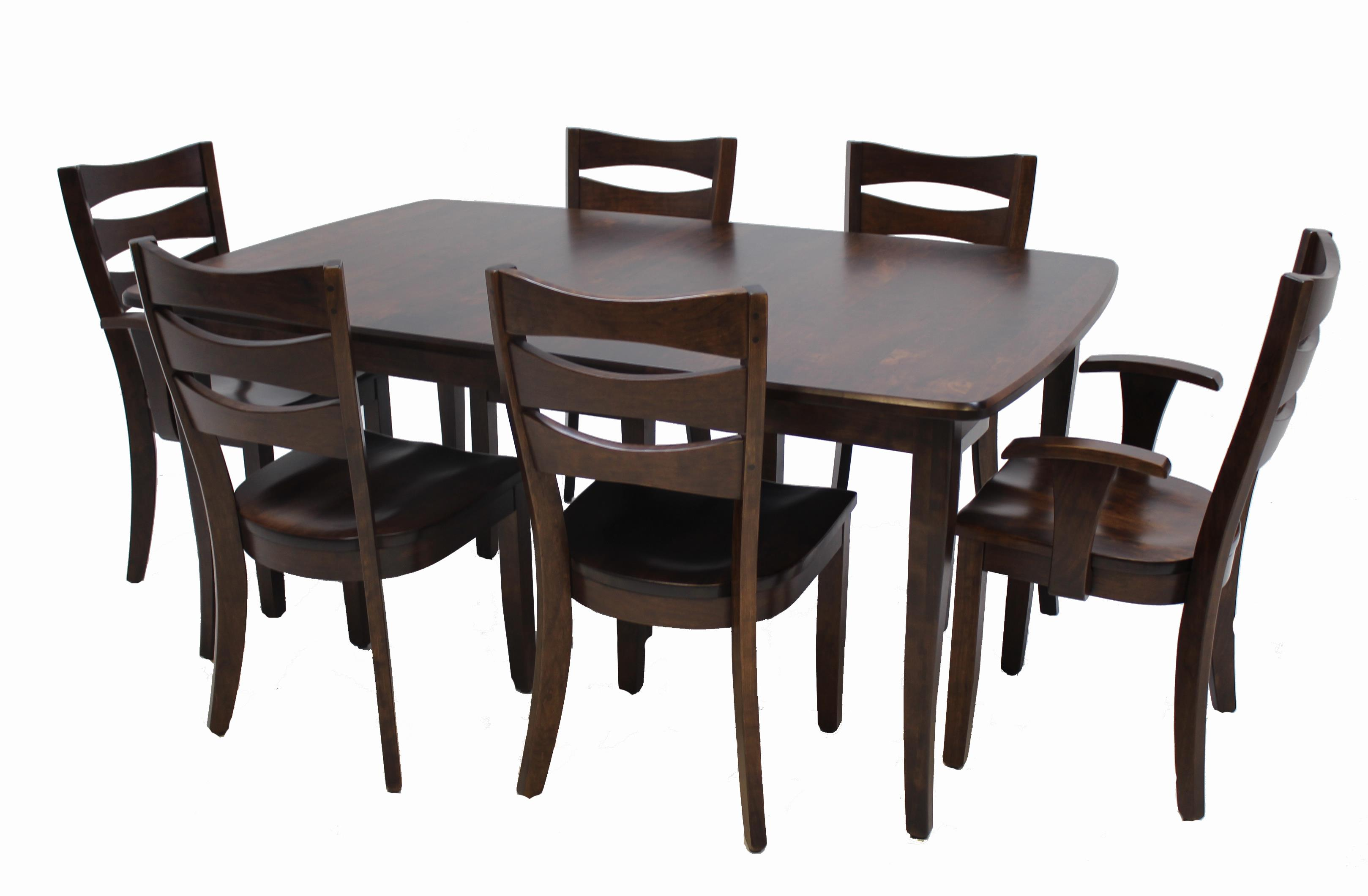 Dining Set Includes Solid Wood Amish Table 6 Chairs At Old Brick