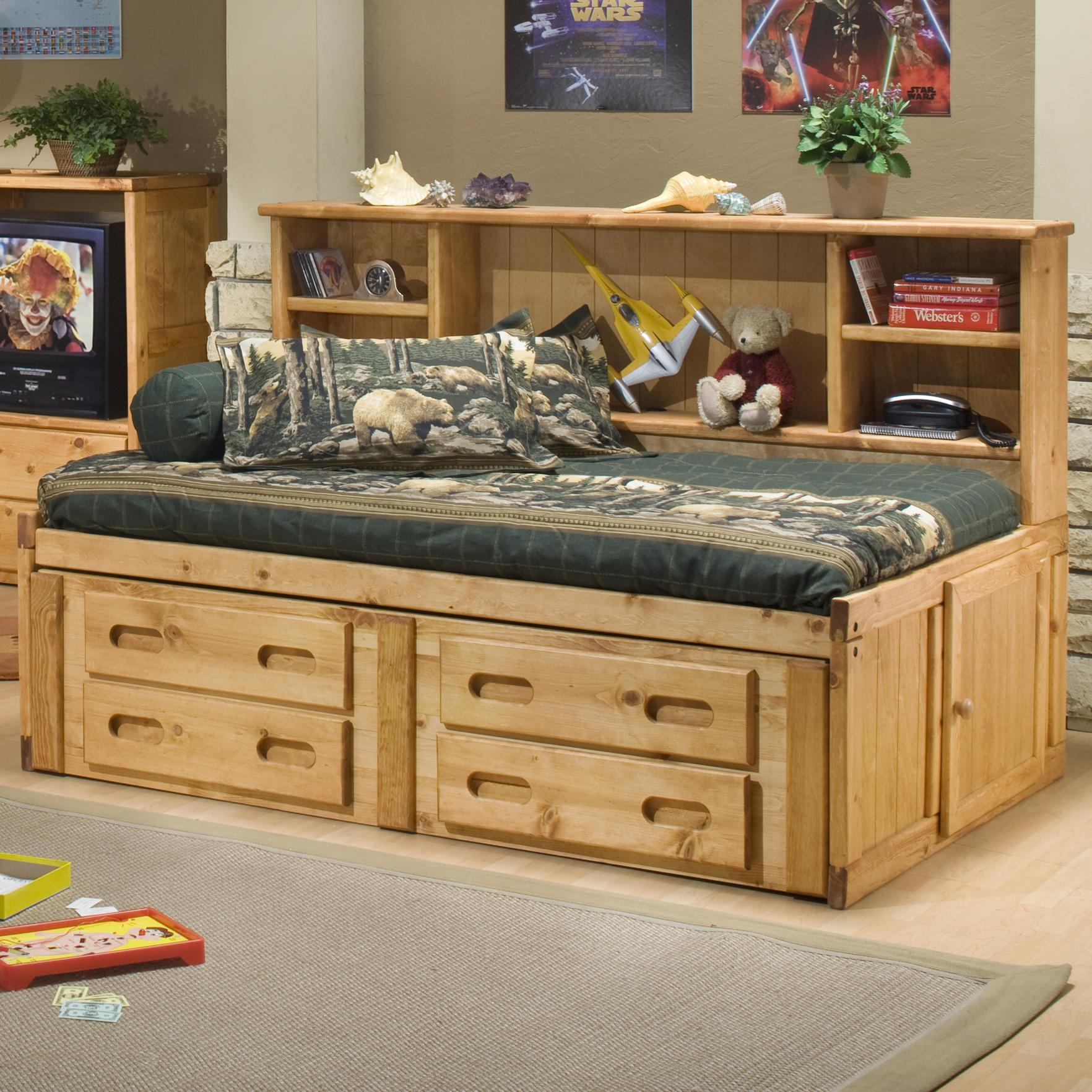 Trendwood Bunkhouse Full Cheyenne Captain 39 S Bed With