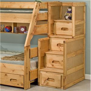 Trendwood Bunkhouse Twin Full High Sierra Bunk Bed Value