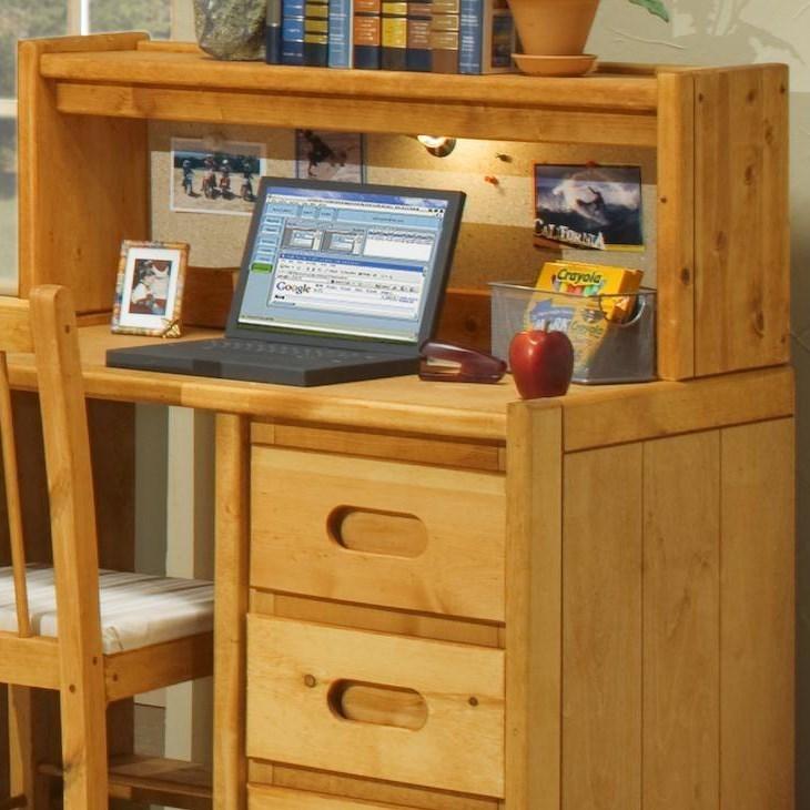 trendwood bunkhouse 4788ci student desk hutch with corkboard and light dunk bright furniture. Black Bedroom Furniture Sets. Home Design Ideas