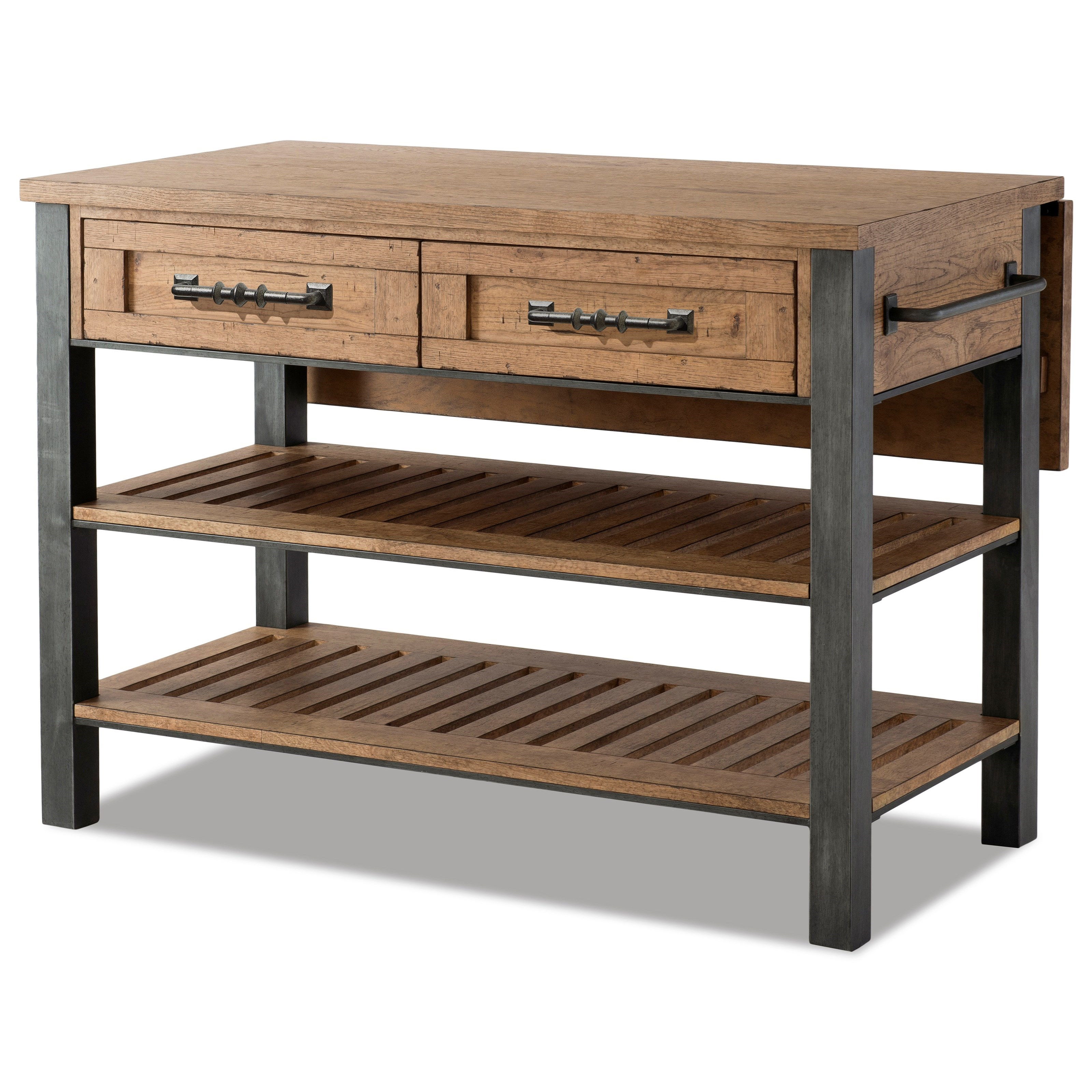 Trisha Yearwood Home Collection By Klaussner Coming Home Reunion Kitchen Island With Drop Front