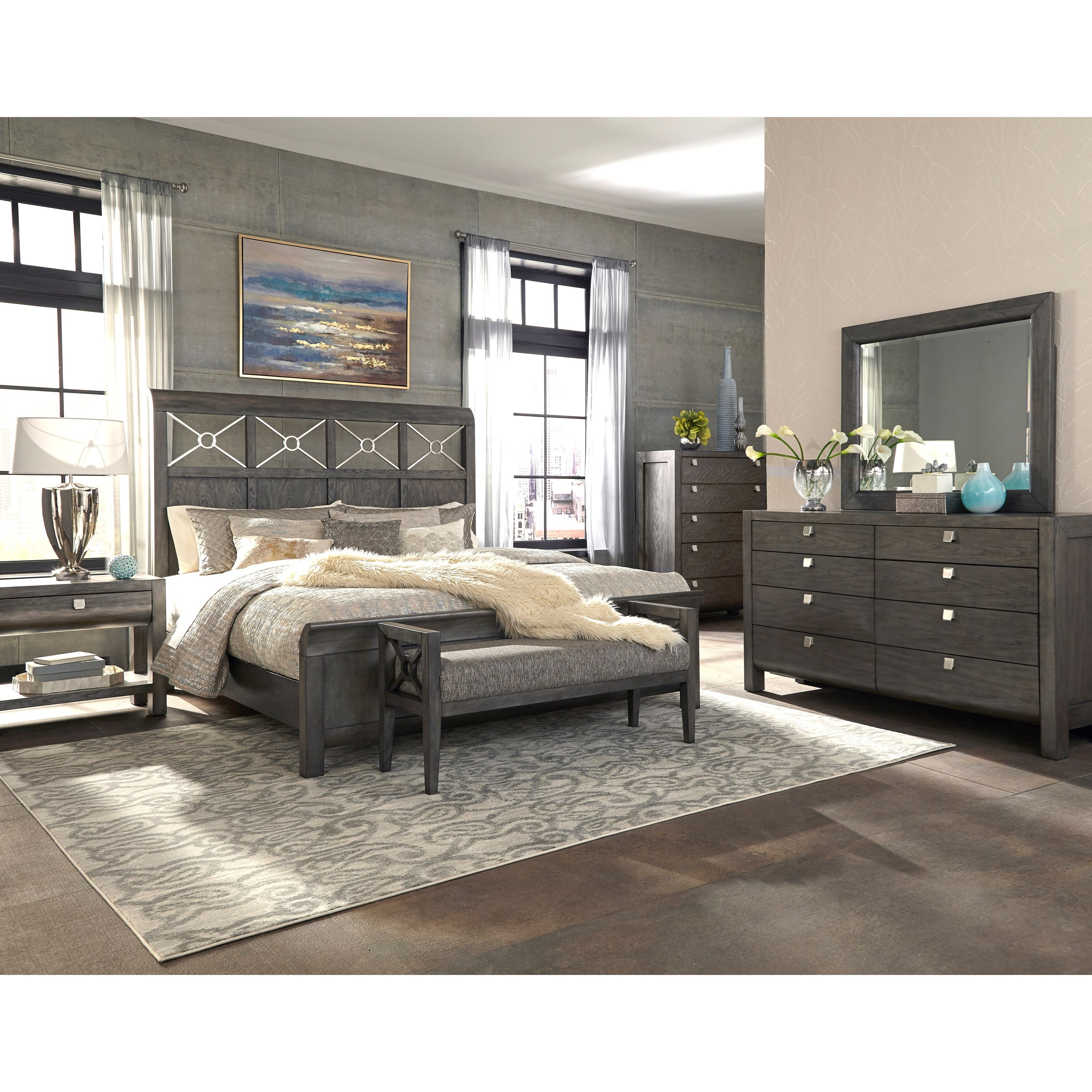 trisha yearwood home collection by klaussner music city queen bedroom group hudson 39 s furniture. Black Bedroom Furniture Sets. Home Design Ideas