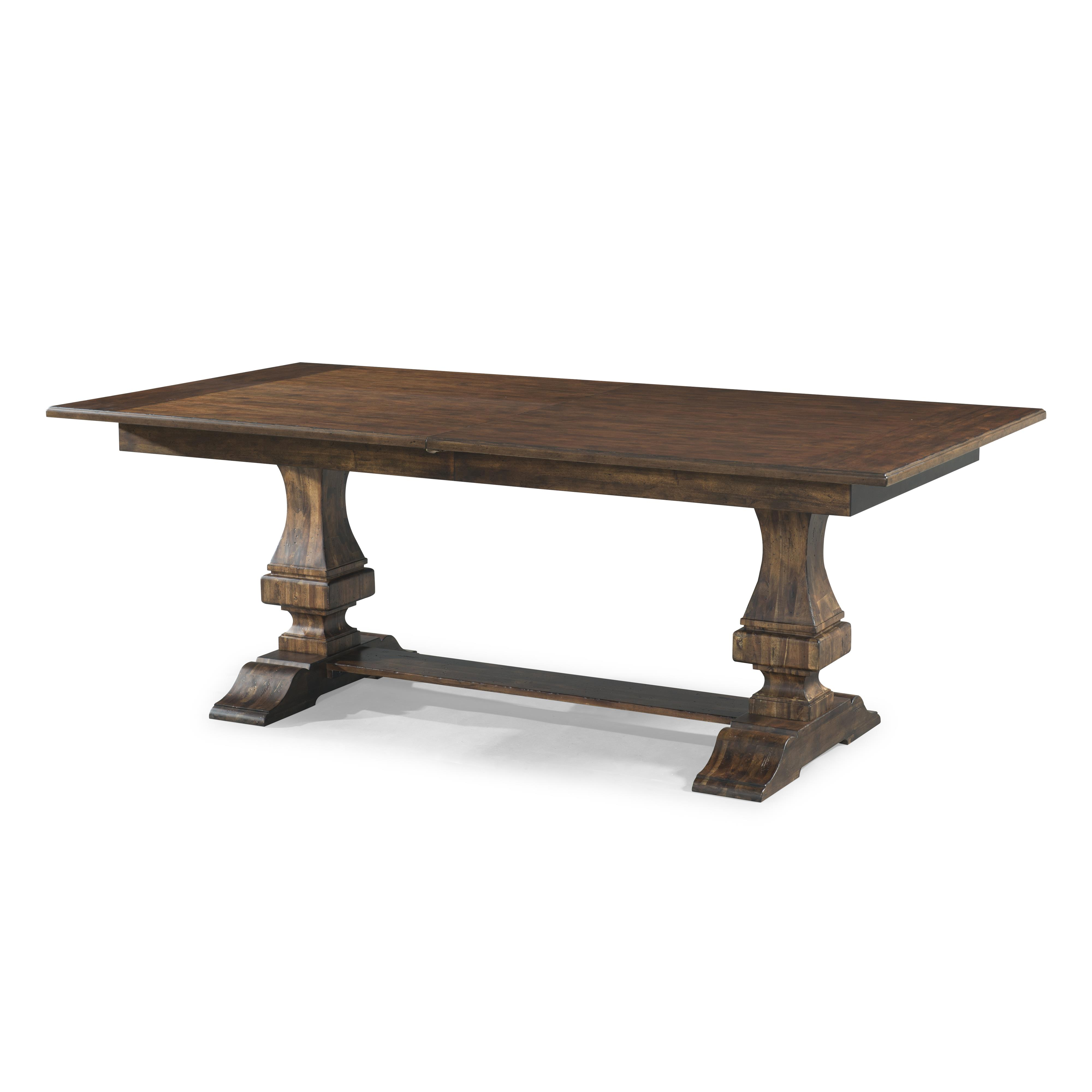 Trisha yearwood home collection by klaussner trisha for Dining room tables trestle