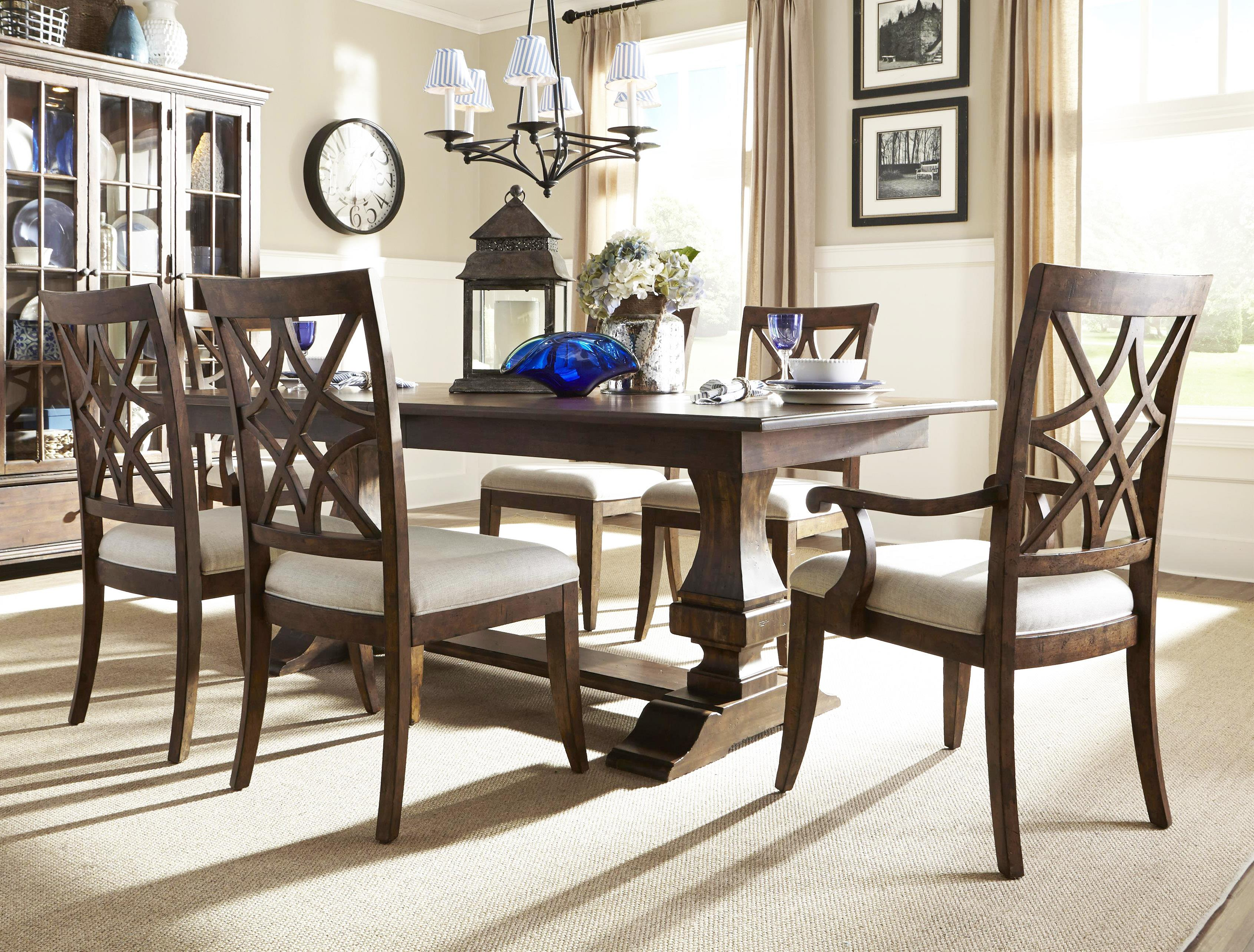 Trisha yearwood home collection by klaussner trisha yearwood home 5 piece dining set ruby Show home furniture hours