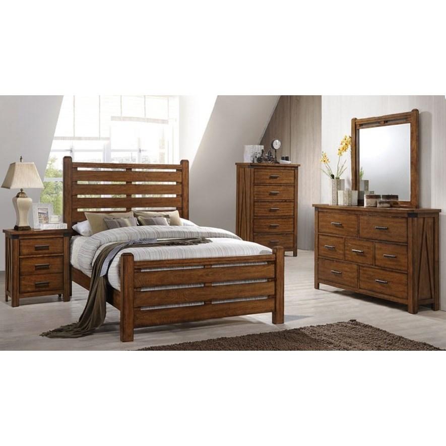 United furniture industries 1022 logan queen bedroom group for Bedroom groups