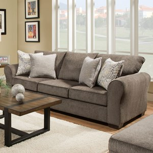 United Furniture Industries 1657 1657 03 Casual Sofa With