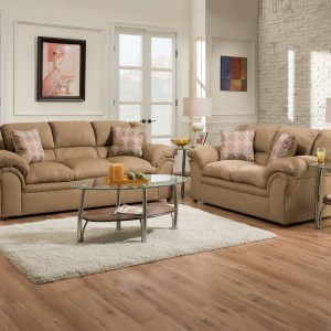 United Furniture Industries 1720 United Casual Sofa With Pillow Arms Bullar