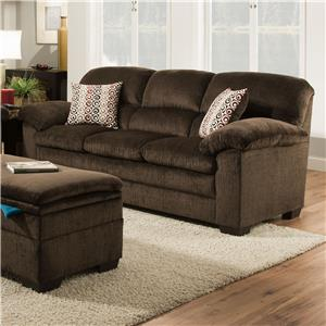 Lane Home Furnishings Plato Chocolate Sofa With Pillow