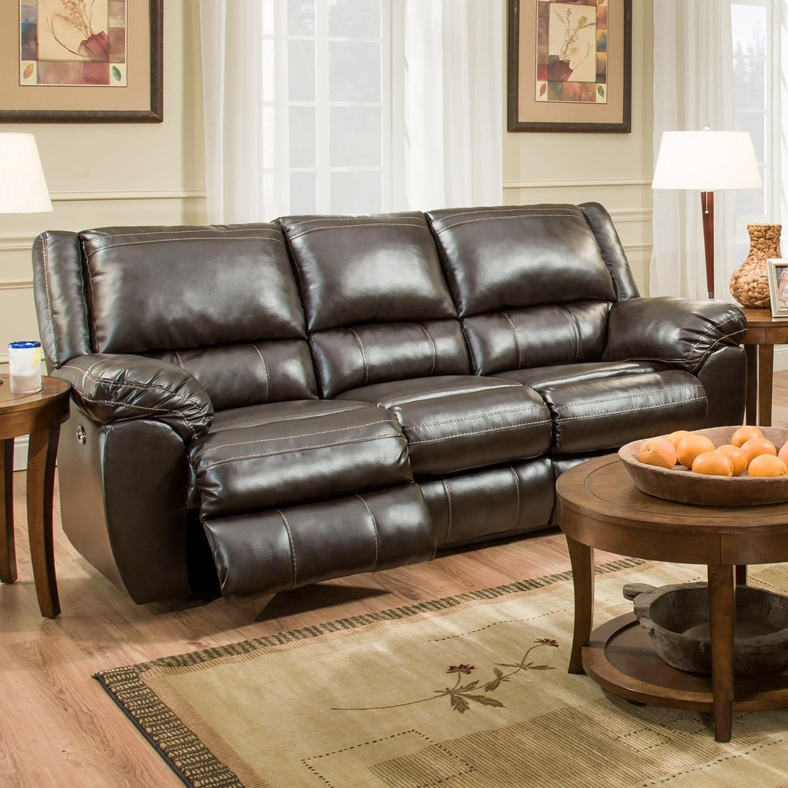 simmons upholstery 50433br power double motion sofa royal furniture reclining sofas. Black Bedroom Furniture Sets. Home Design Ideas
