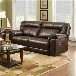 benchcraft quarterback canyon reclining sofa in faux