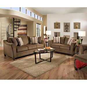 United Furniture Industries 6485 Transitional Sofa Chaise With Wood Legs Furniture