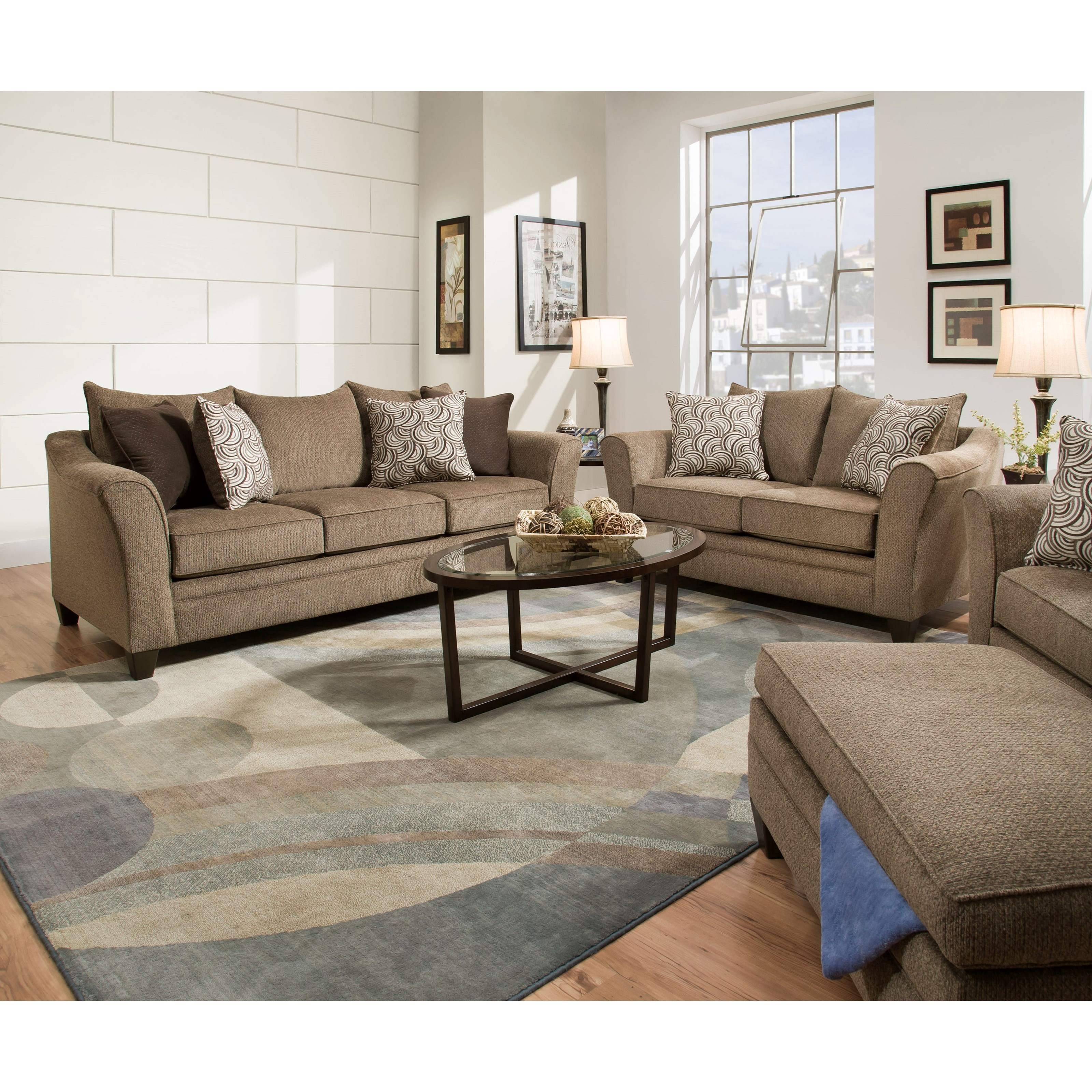 Living room group royal furniture stationary living room groups