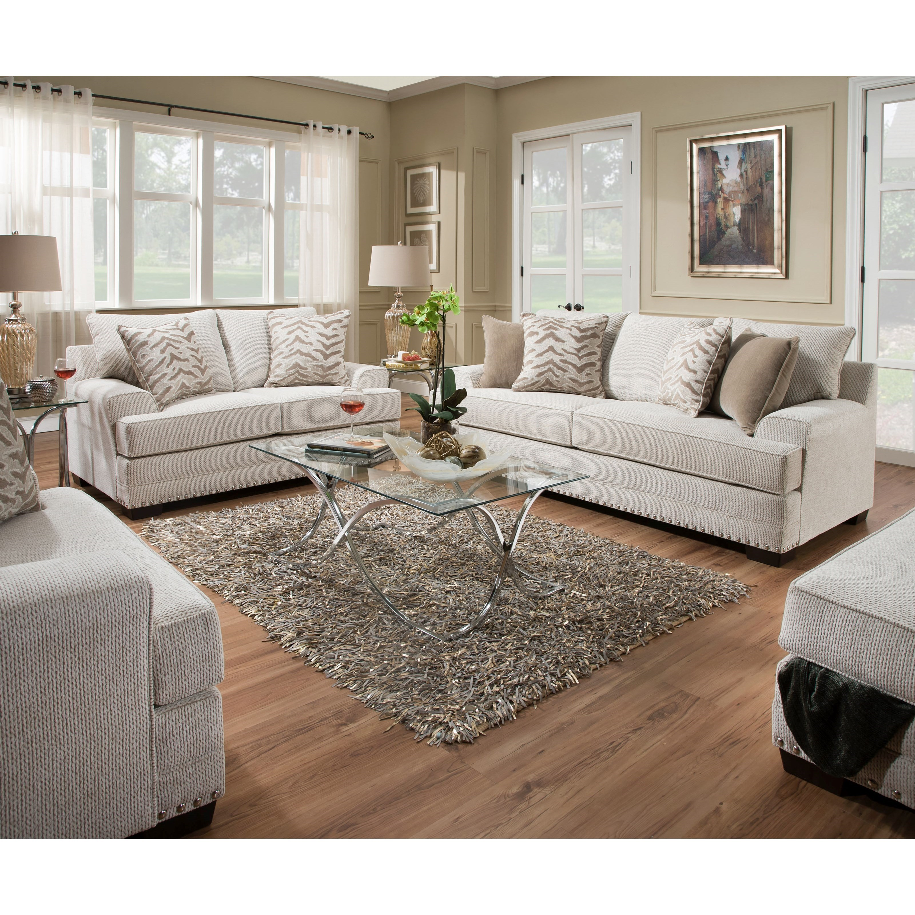 Simmons Upholstery 6547BR 6547BRSofa Contemporary Sofa