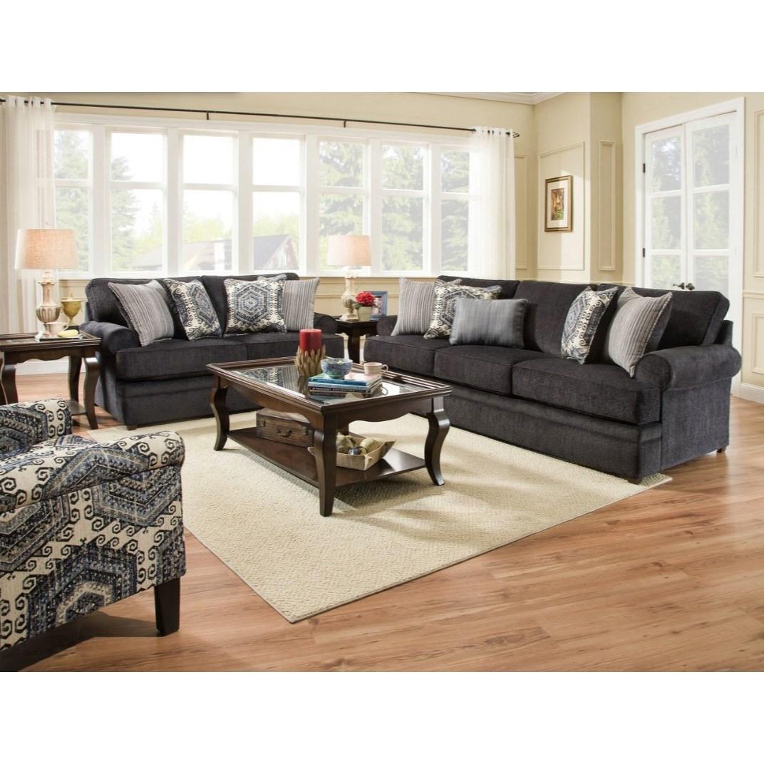 United Furniture Industries 8530 Br 8530brloveseat