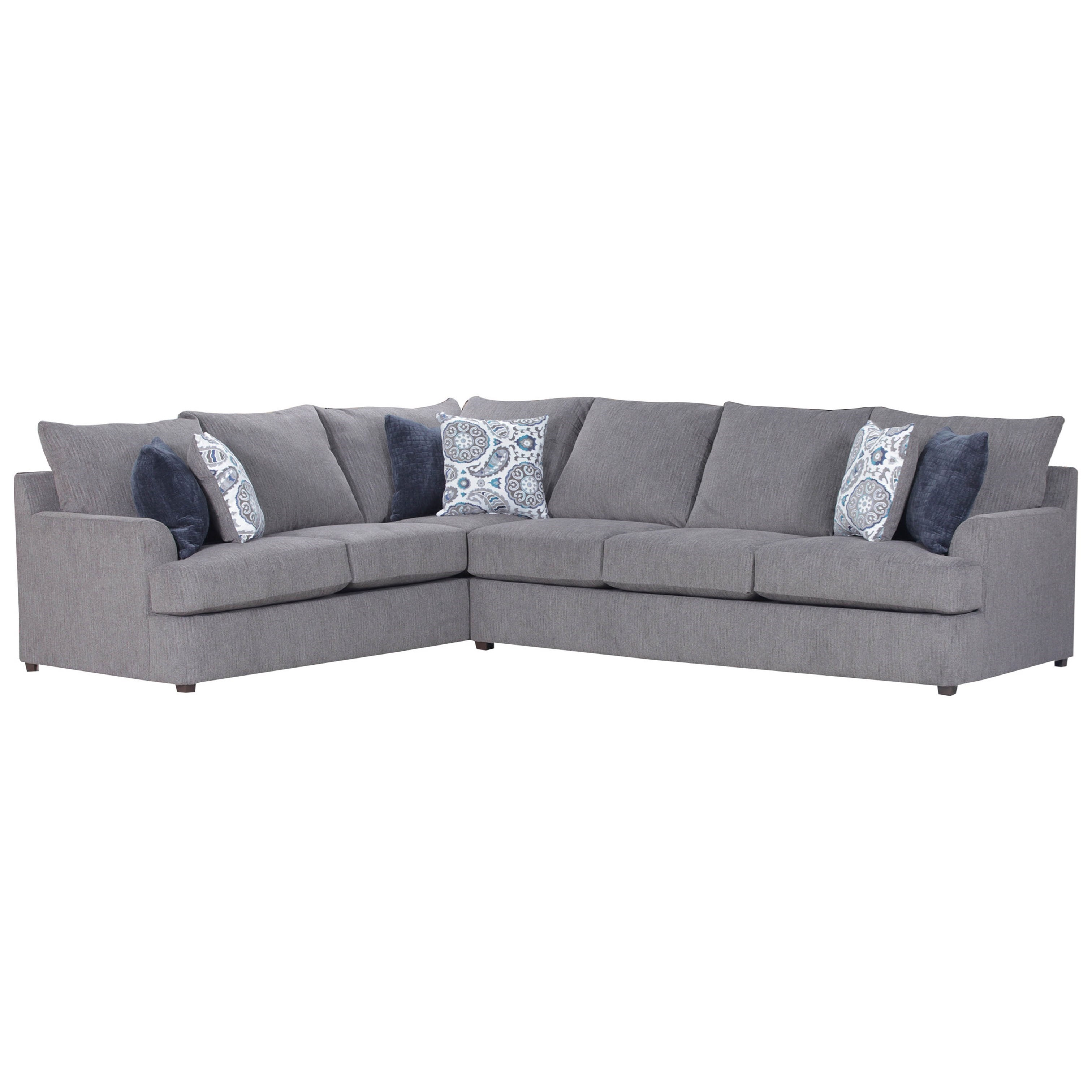 United furniture industries 8540br casual sectional sofa for Casual couch