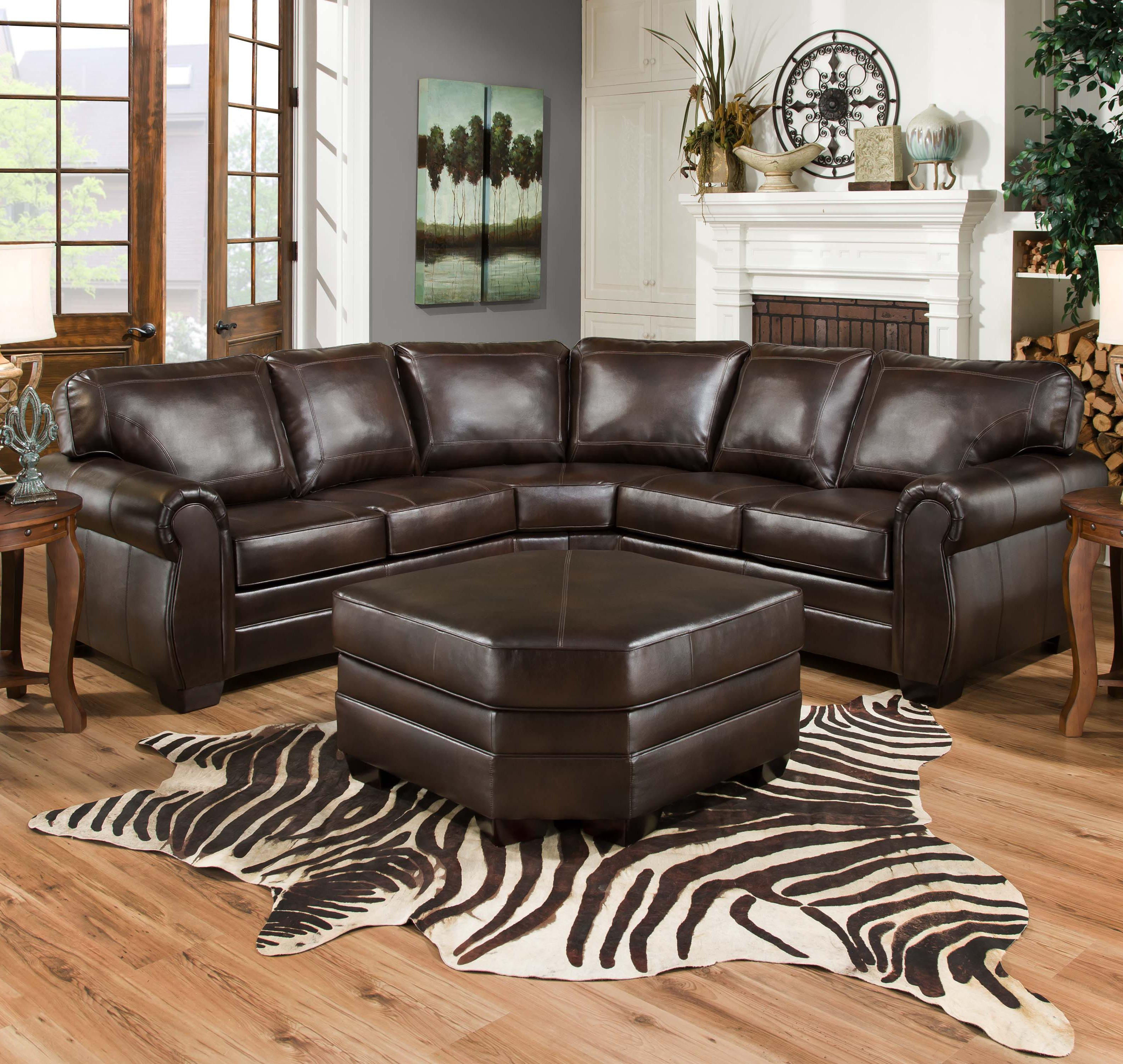 Simmons upholstery 9222 traditional sectional sofa with for Simmons upholstery sectional sofa