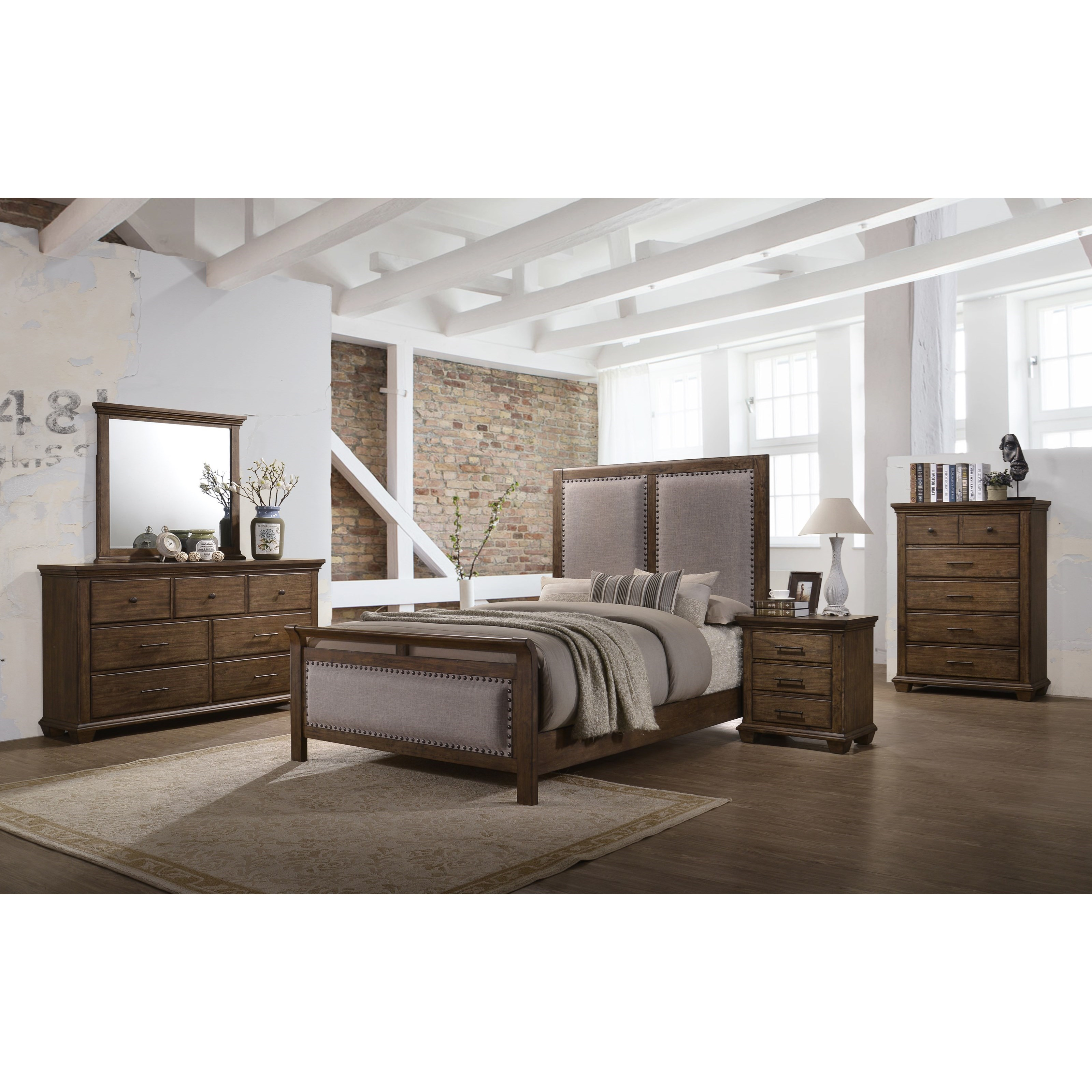 United Furniture Industries Carlton 1040 King Bedroom Group Household Furniture Bedroom Groups