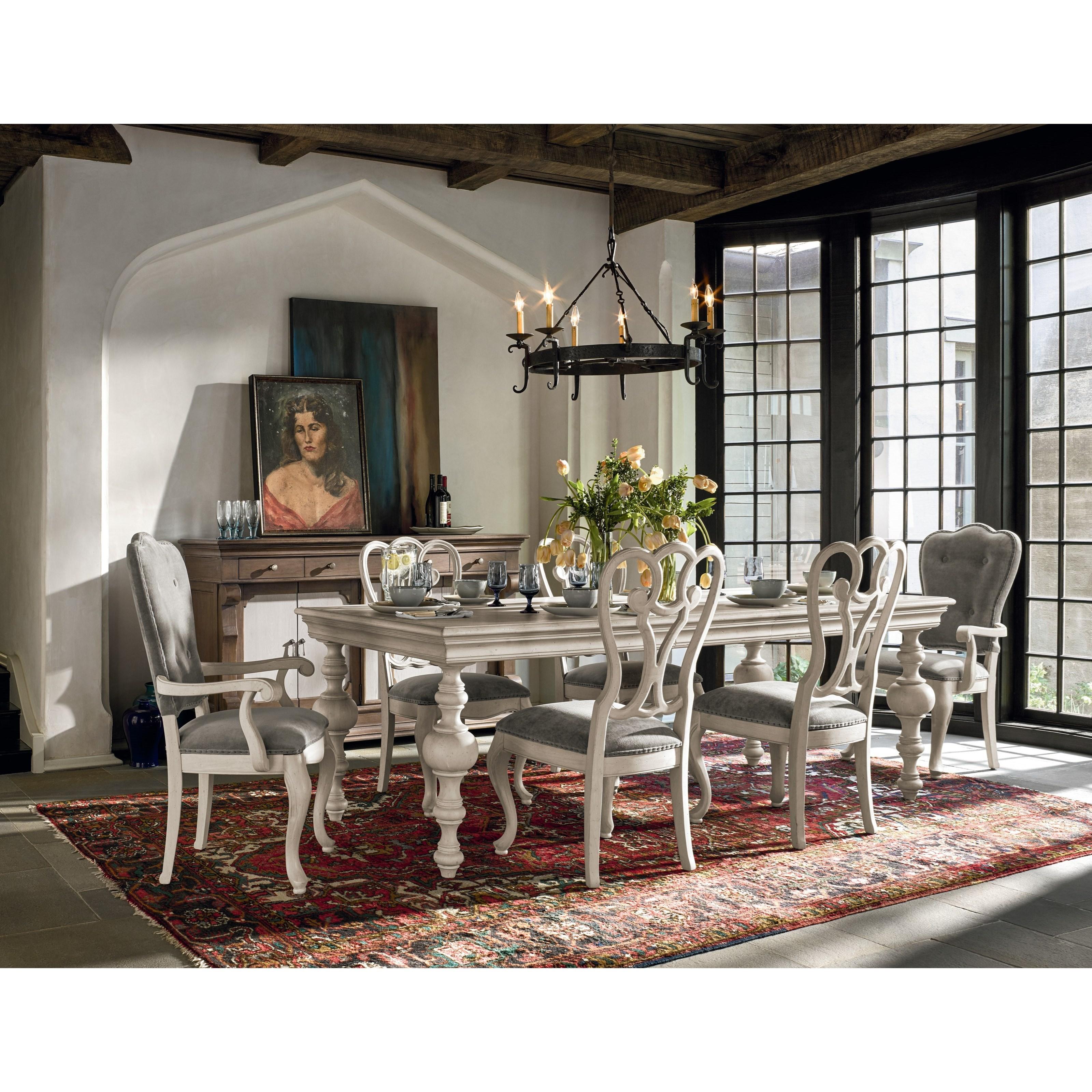 Universal lan traditional formal dining room group for Traditional formal dining room