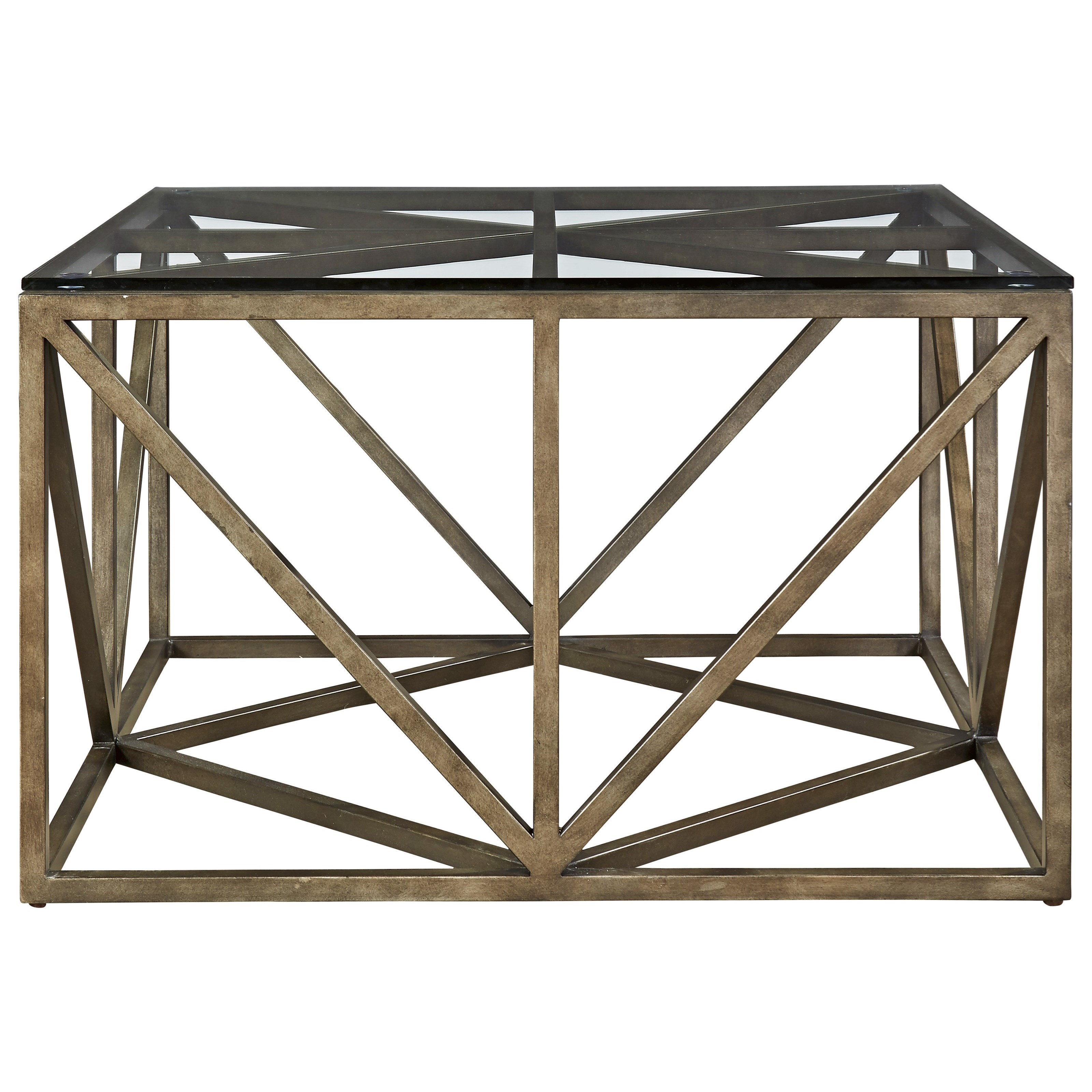 Universal Authenticity 572801 Truss Square Cocktail Table