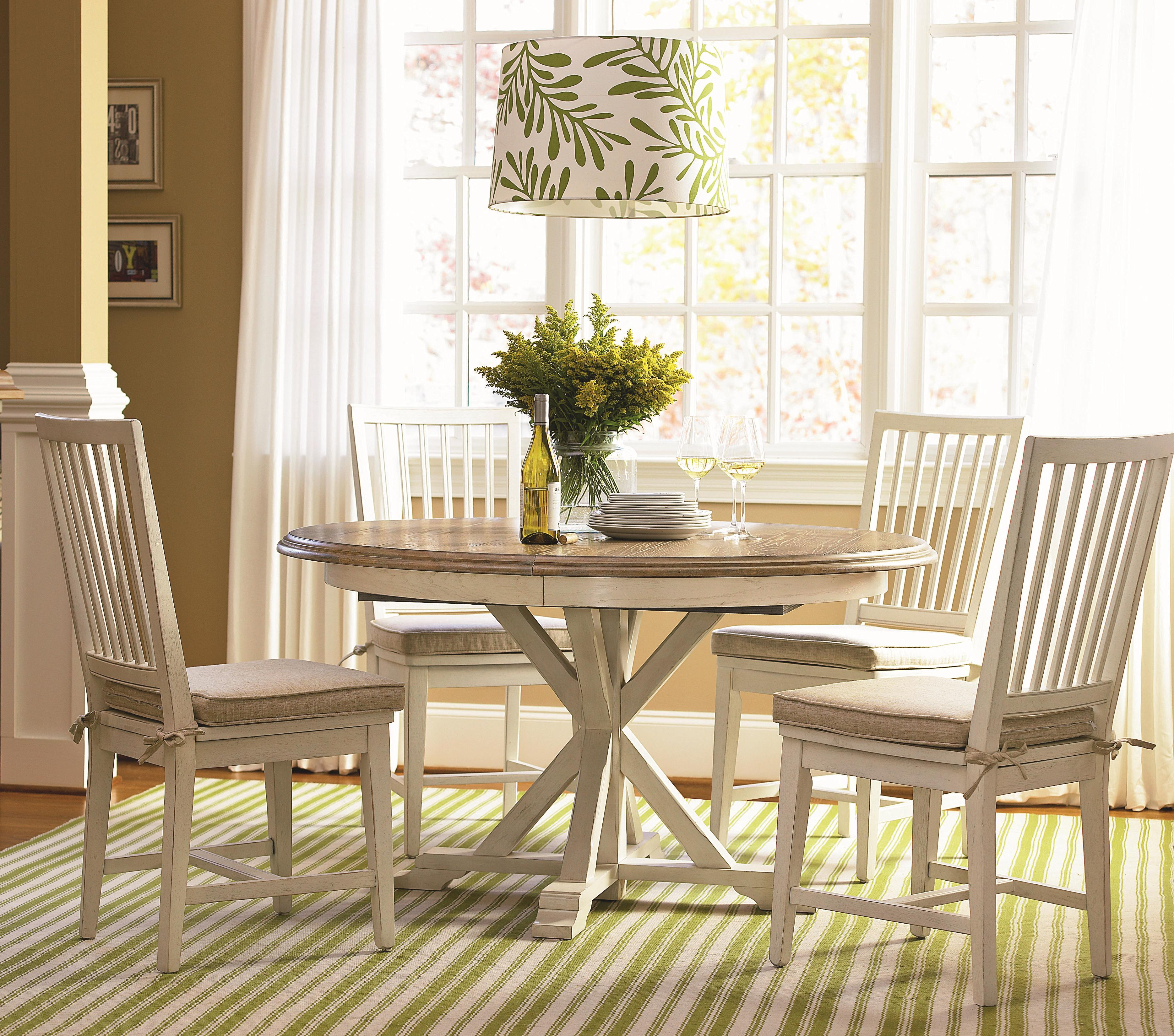 Universal curated 5 piece dining set with garden breakfast for Top rated dining room tables