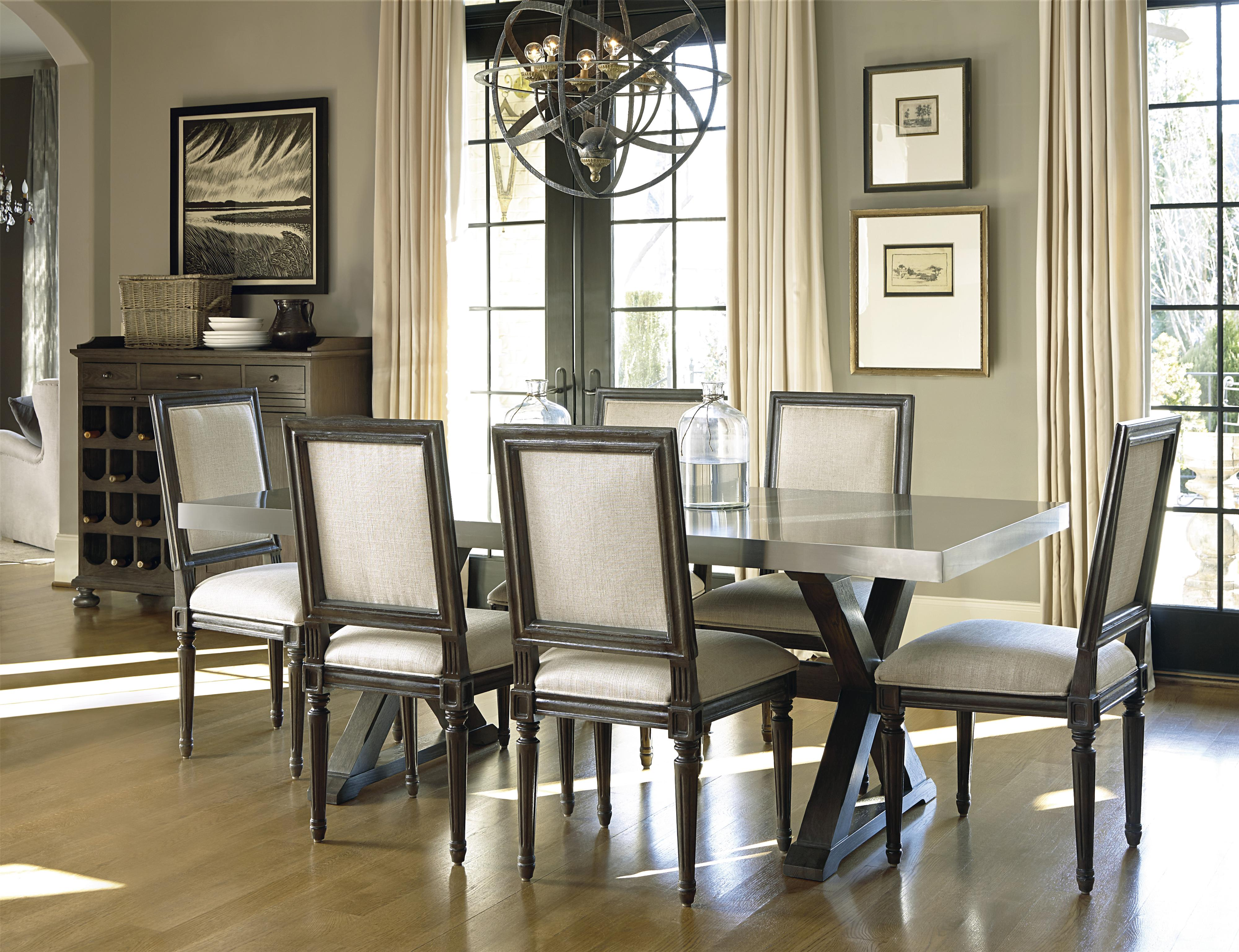 Universal curated bergere side chair fashion furniture for Top rated dining room tables