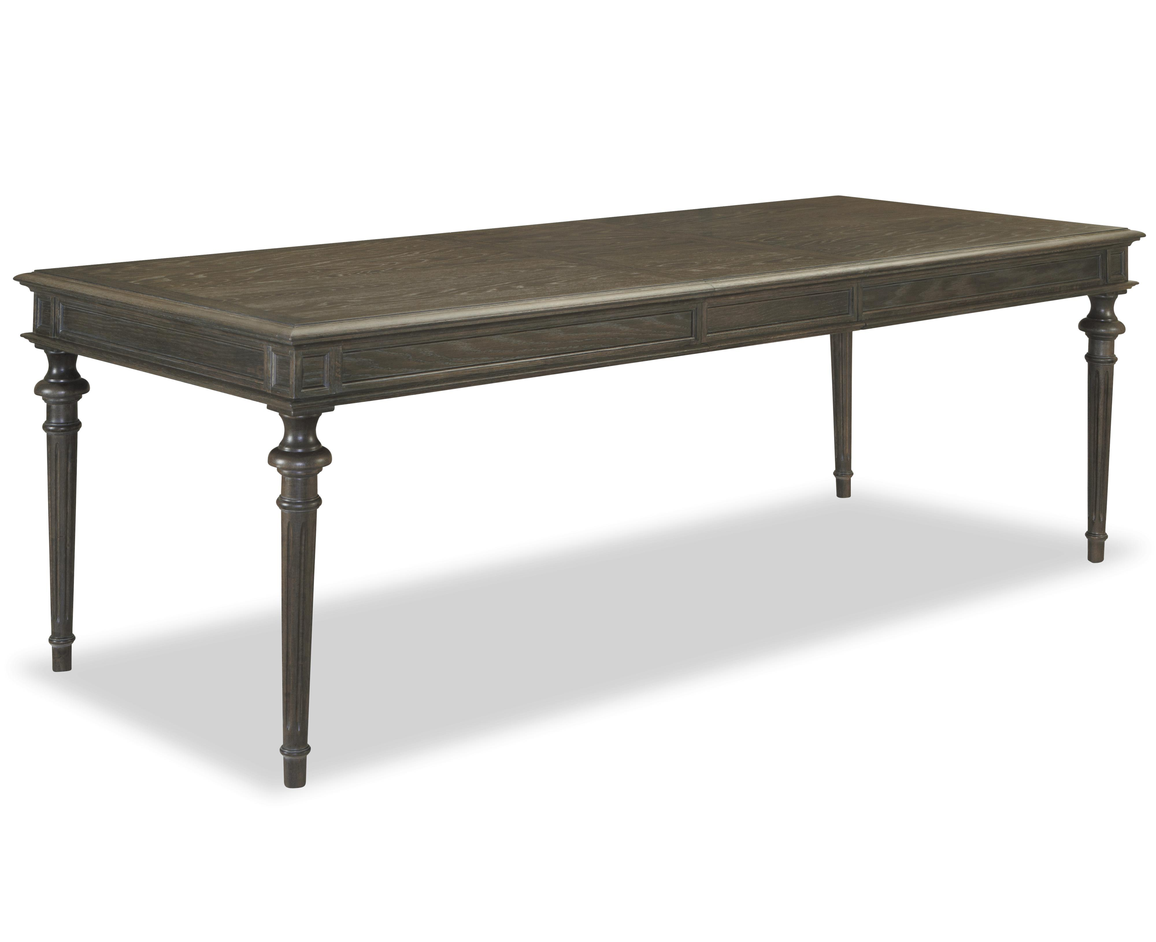 Universal curated tribeca leg table with 18 inch leaf for Top rated dining tables