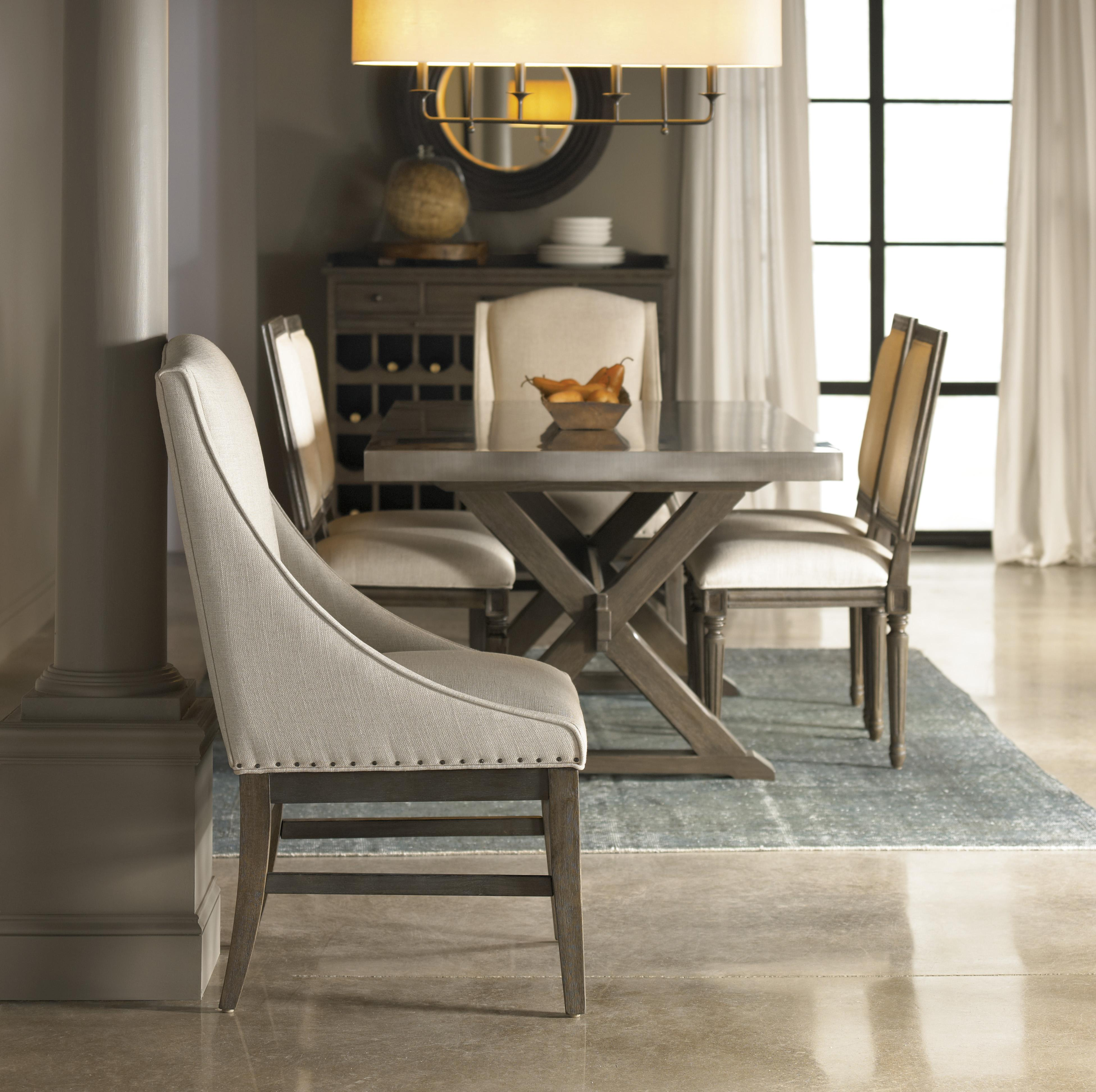 Universal curated urban arm chair olinde 39 s furniture for Top rated dining room tables