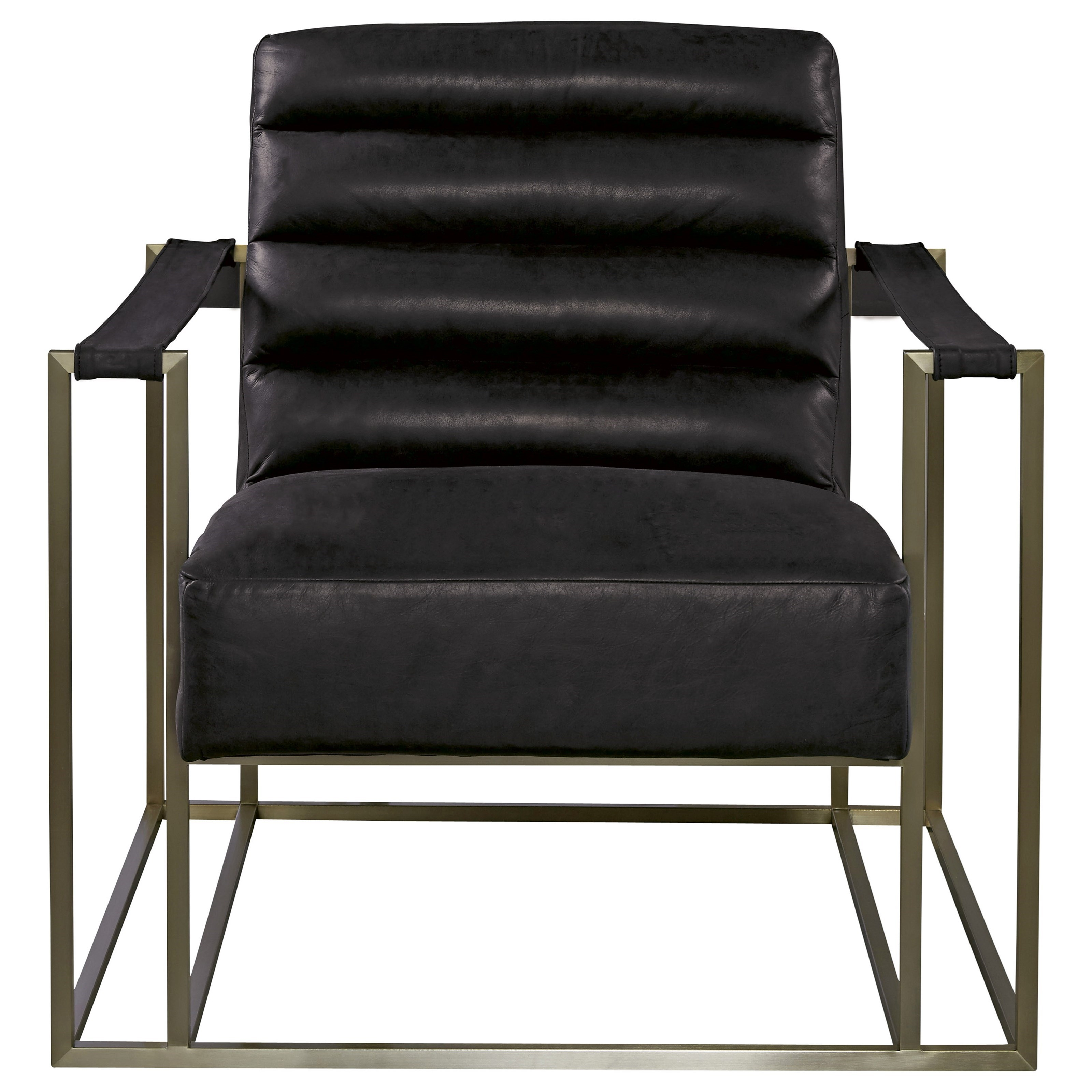 universal jensen accent chair with metal frame belfort. Black Bedroom Furniture Sets. Home Design Ideas
