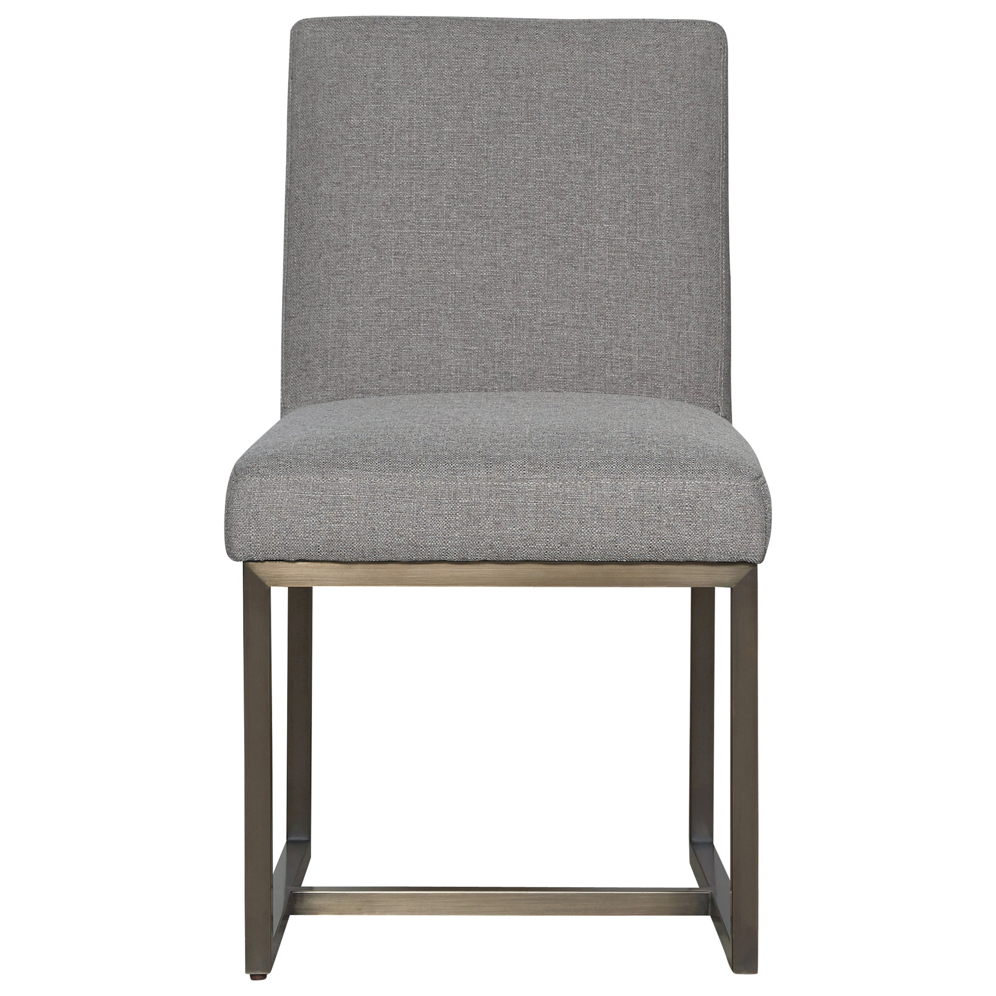 Universal modern 643732 cooper upholstered side chair for Modern upholstered dining chairs