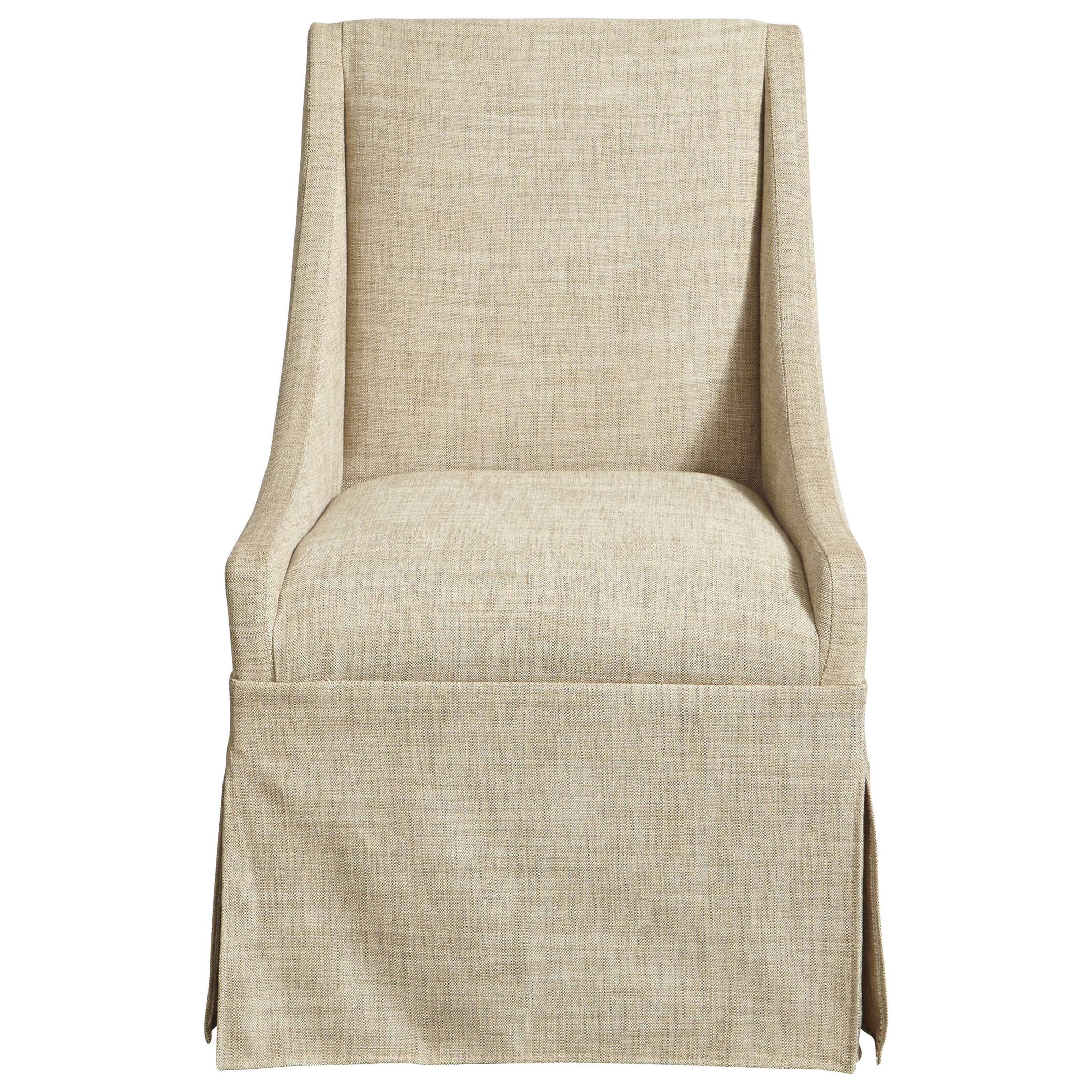 Universal modern townsend castered upholstered dining for Modern upholstered dining chairs