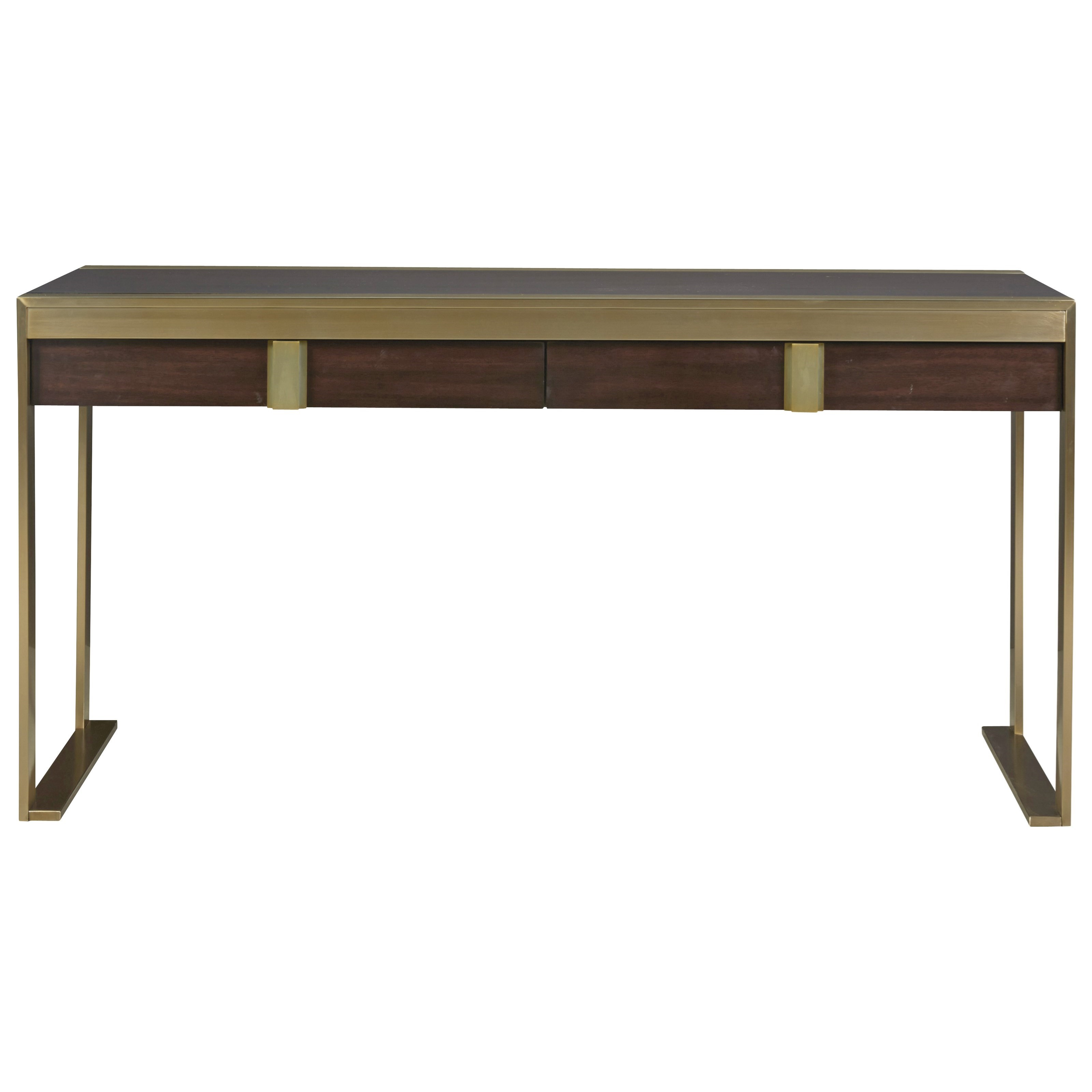 Universal Modern Hayworth Console Desk With Two Drawers