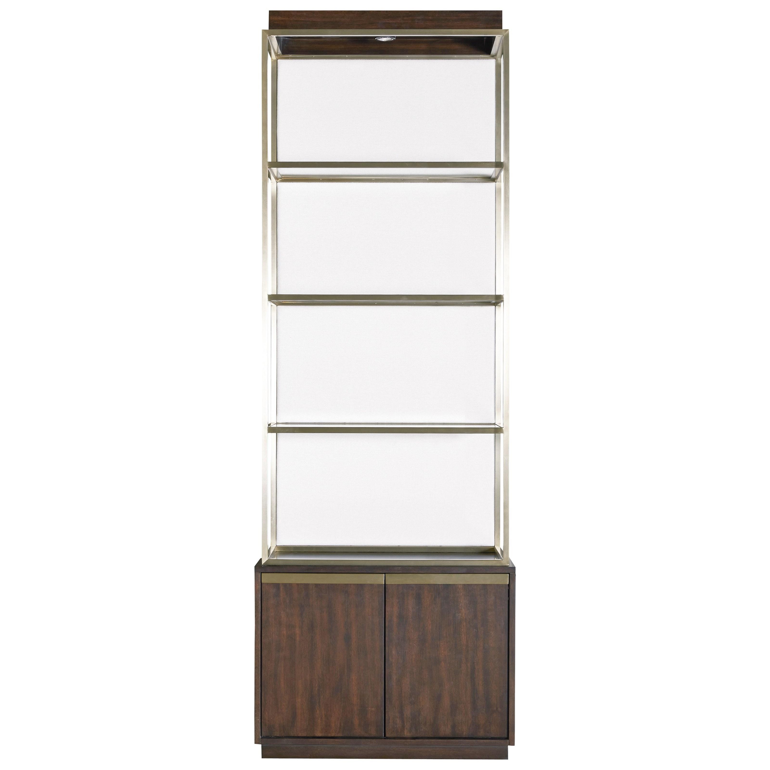 universal modern bronze garland etagere complete reeds furniture open bookcases. Black Bedroom Furniture Sets. Home Design Ideas