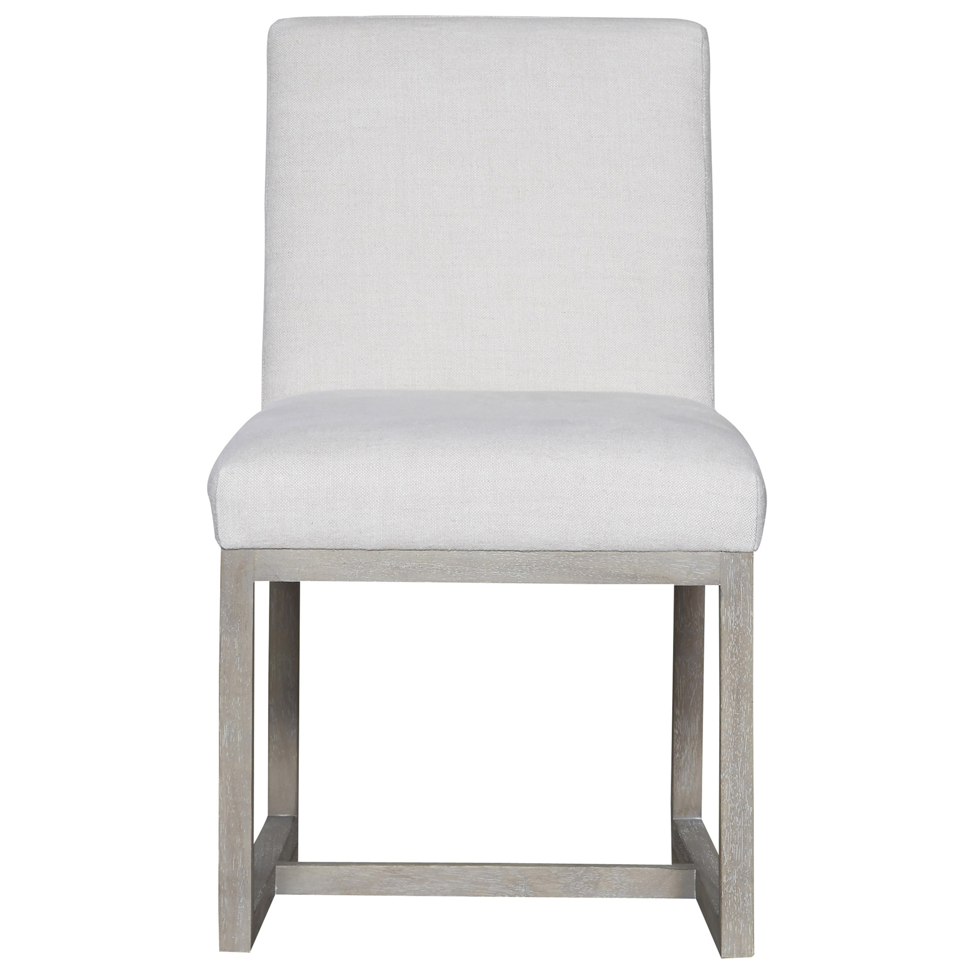 Universal modern upholstered carter side chair reeds for Modern upholstered dining chairs