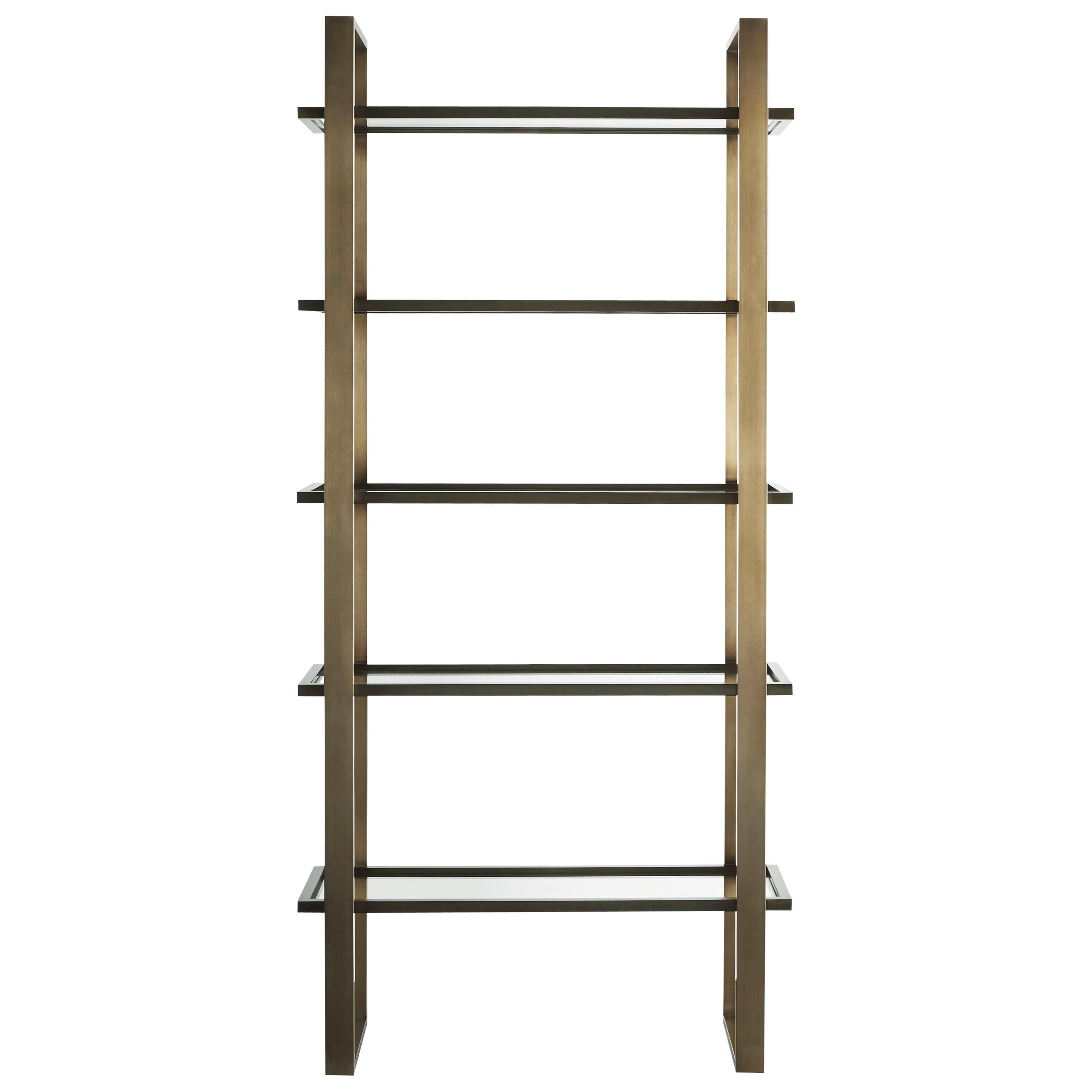 universal modern 656b850 bronze etagere hudson 39 s. Black Bedroom Furniture Sets. Home Design Ideas