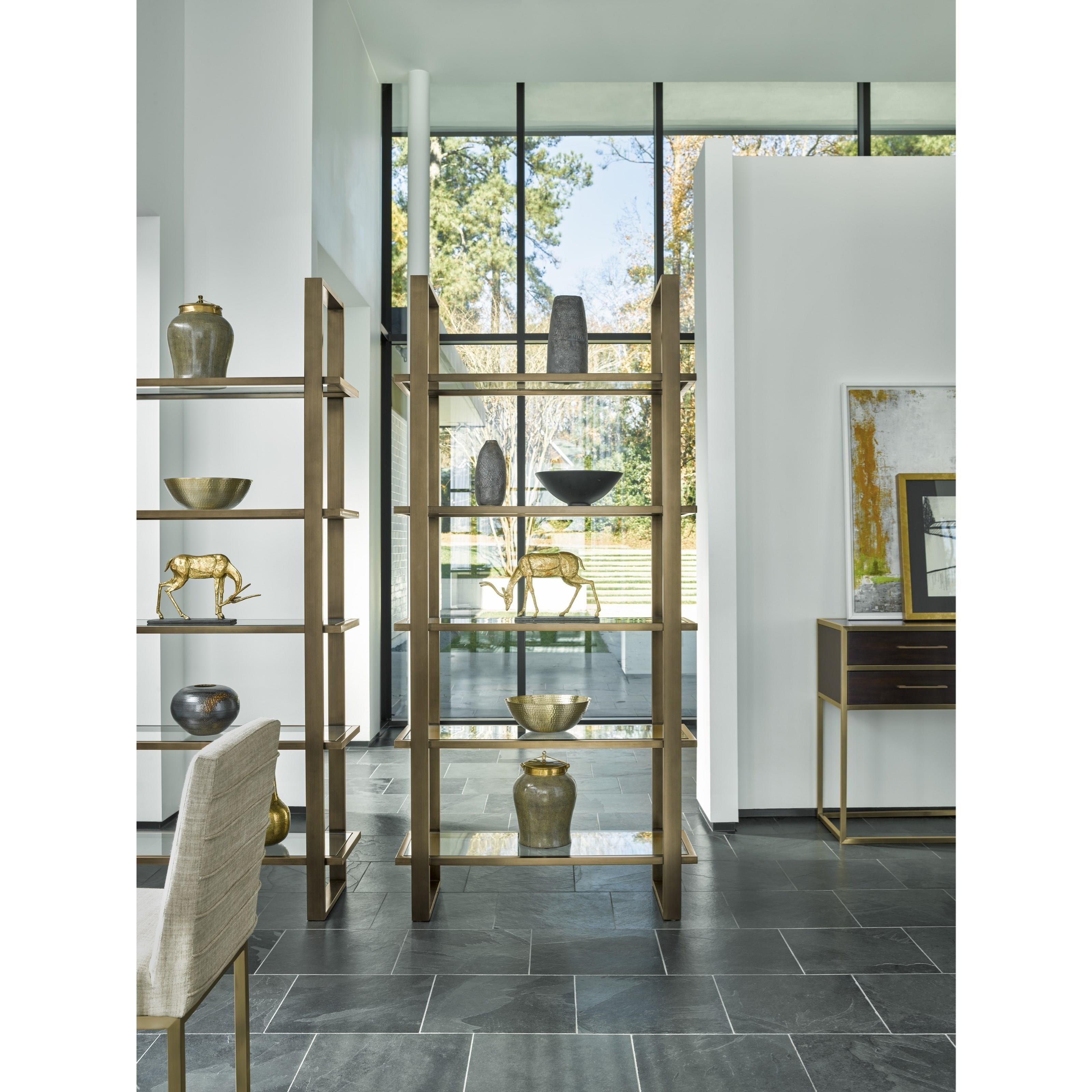 universal modern 656b850 bronze etagere baer 39 s furniture. Black Bedroom Furniture Sets. Home Design Ideas