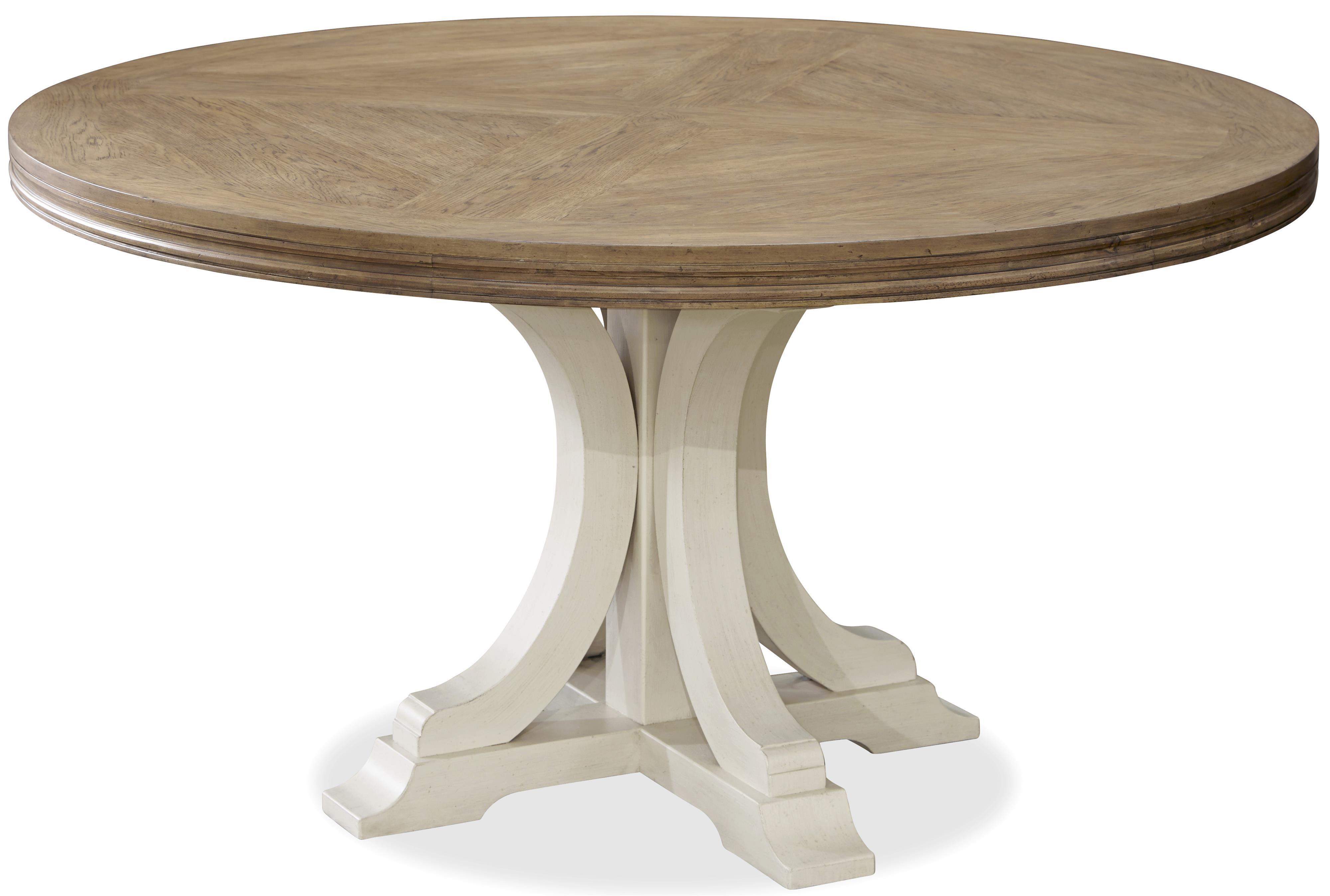 universal moderne muse round dining table with pedestal base jacksonville furniture mart. Black Bedroom Furniture Sets. Home Design Ideas