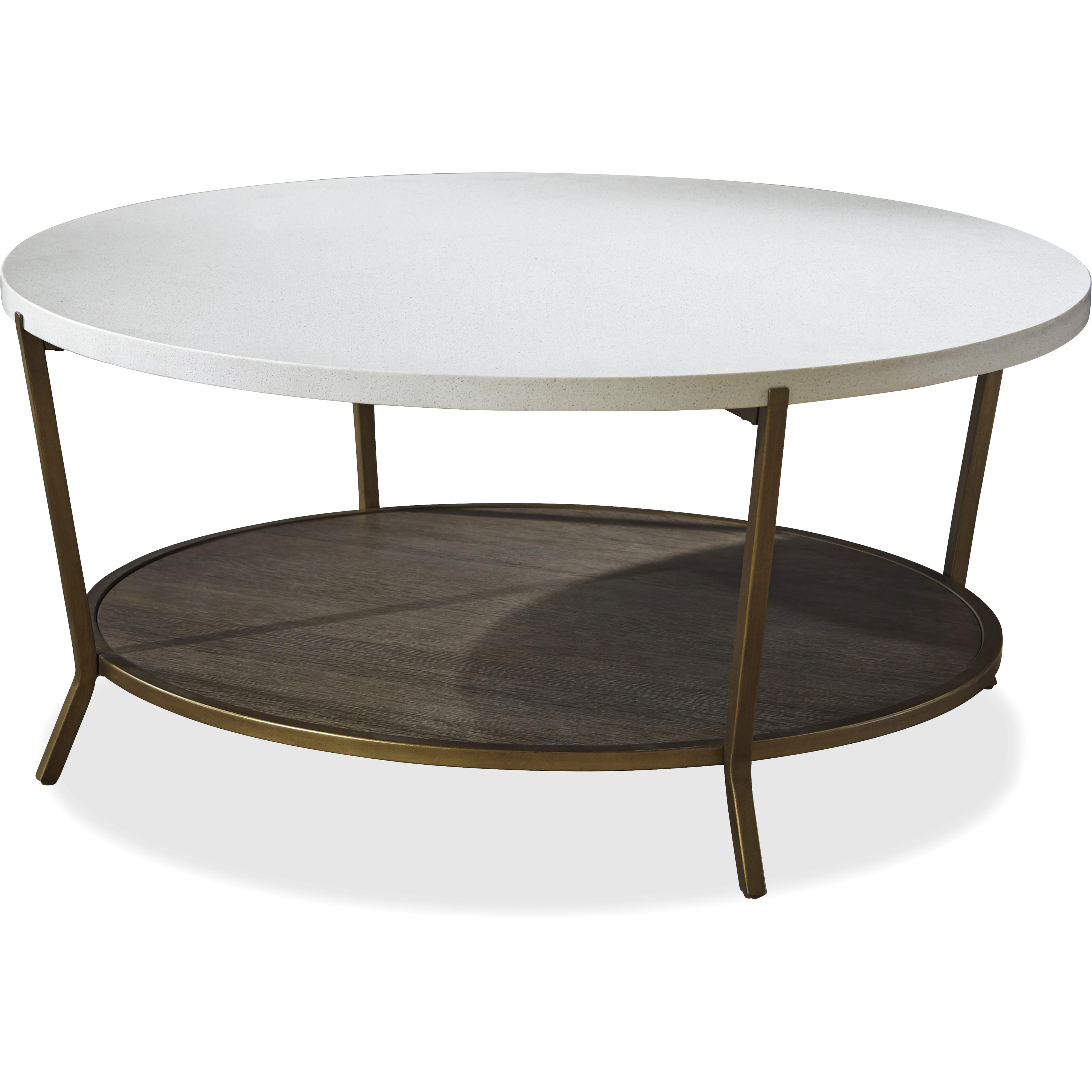Universal playlist 507818 round cocktail table with stone for Round coffee table with chairs