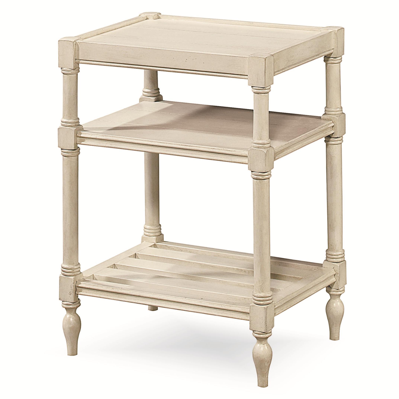 universal summer hill 987817 chair side table with 2 shelves baer 39 s furniture end tables. Black Bedroom Furniture Sets. Home Design Ideas