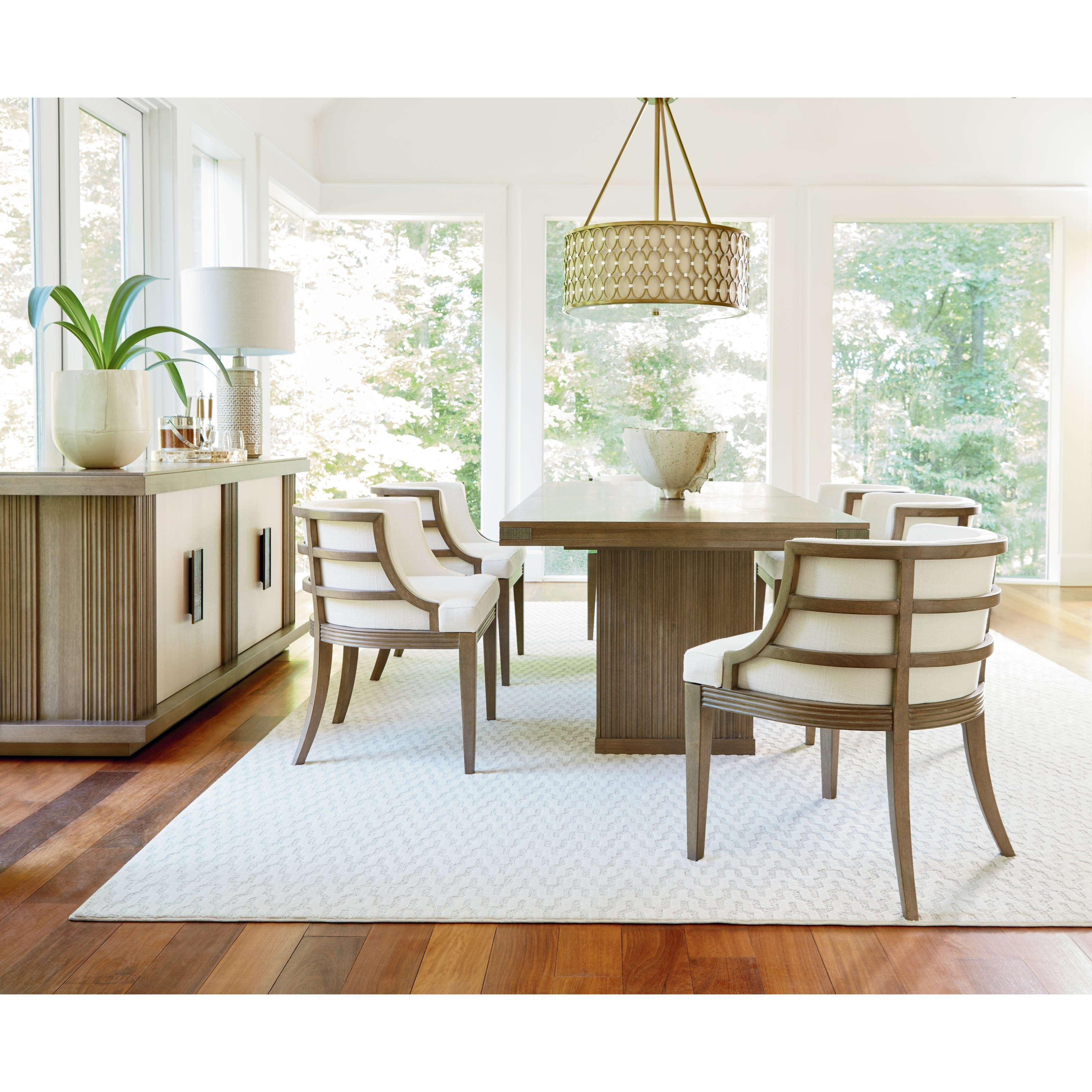 Universal synchronicity mid century modern rectangular for Rectangular dining room tables with leaves